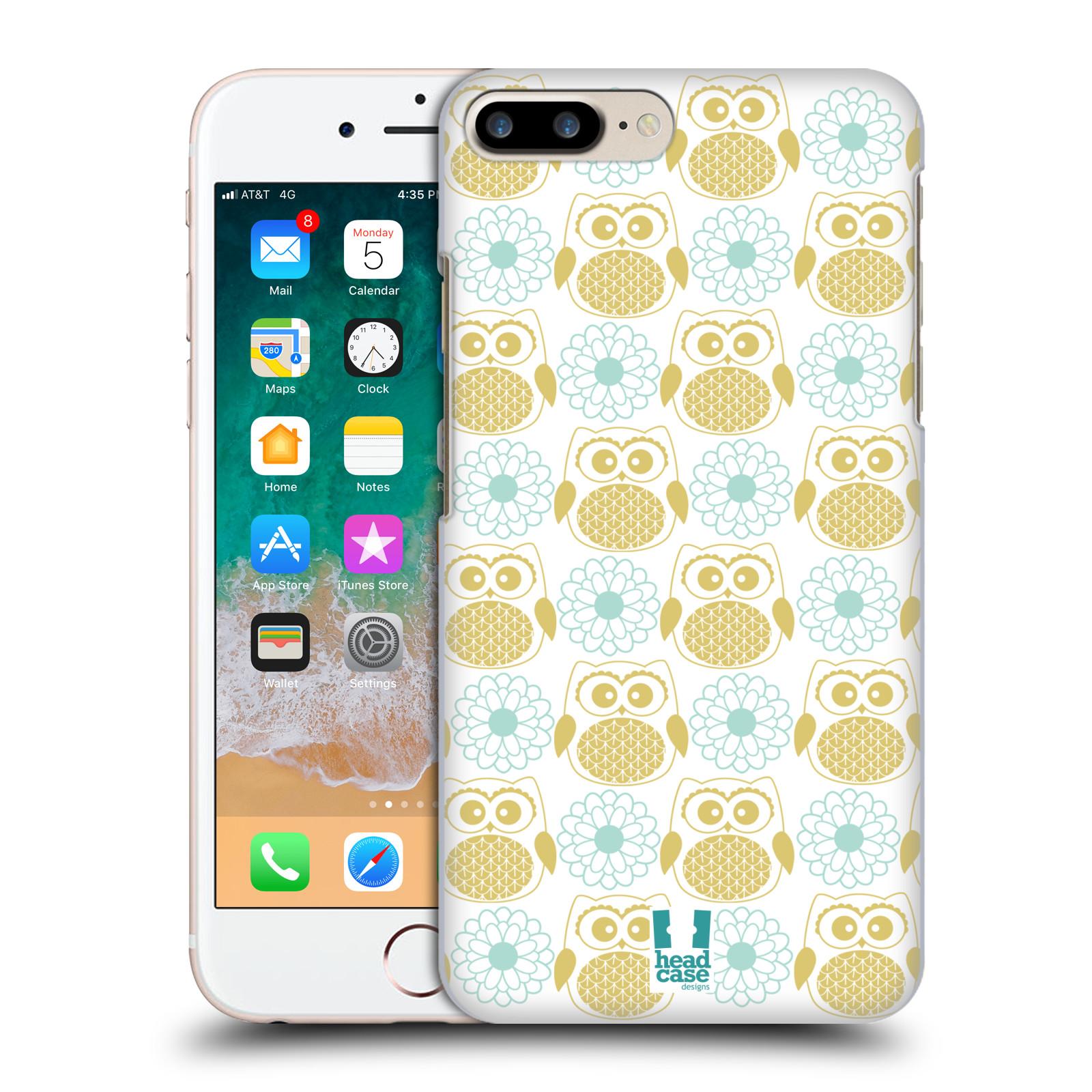 HEAD CASE plastový obal na mobil Apple Iphone 7 PLUS vzor Malé roztomilé sovičky květy