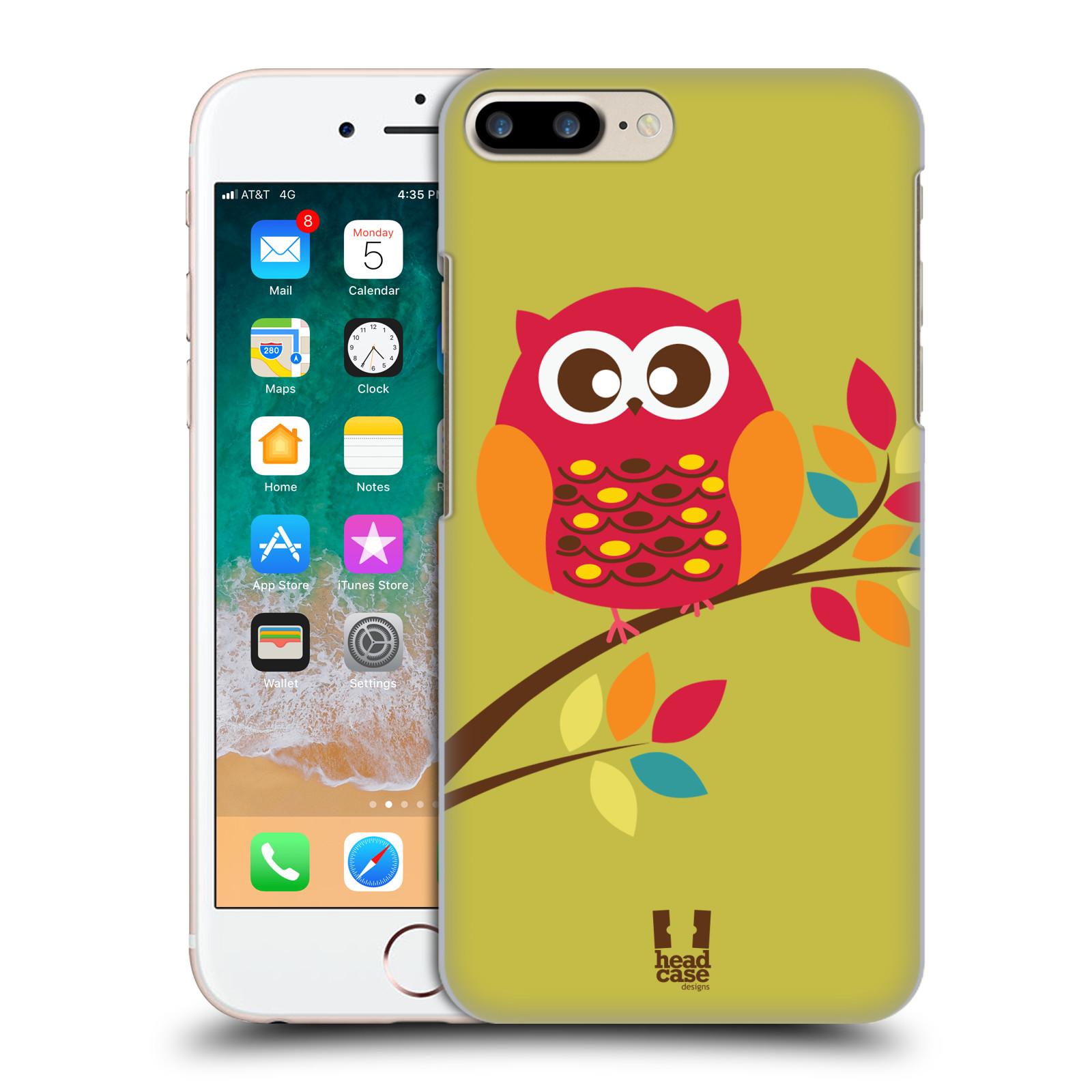 HEAD CASE plastový obal na mobil Apple Iphone 7 PLUS vzor Malé roztomilé sovičky sedící na větvi