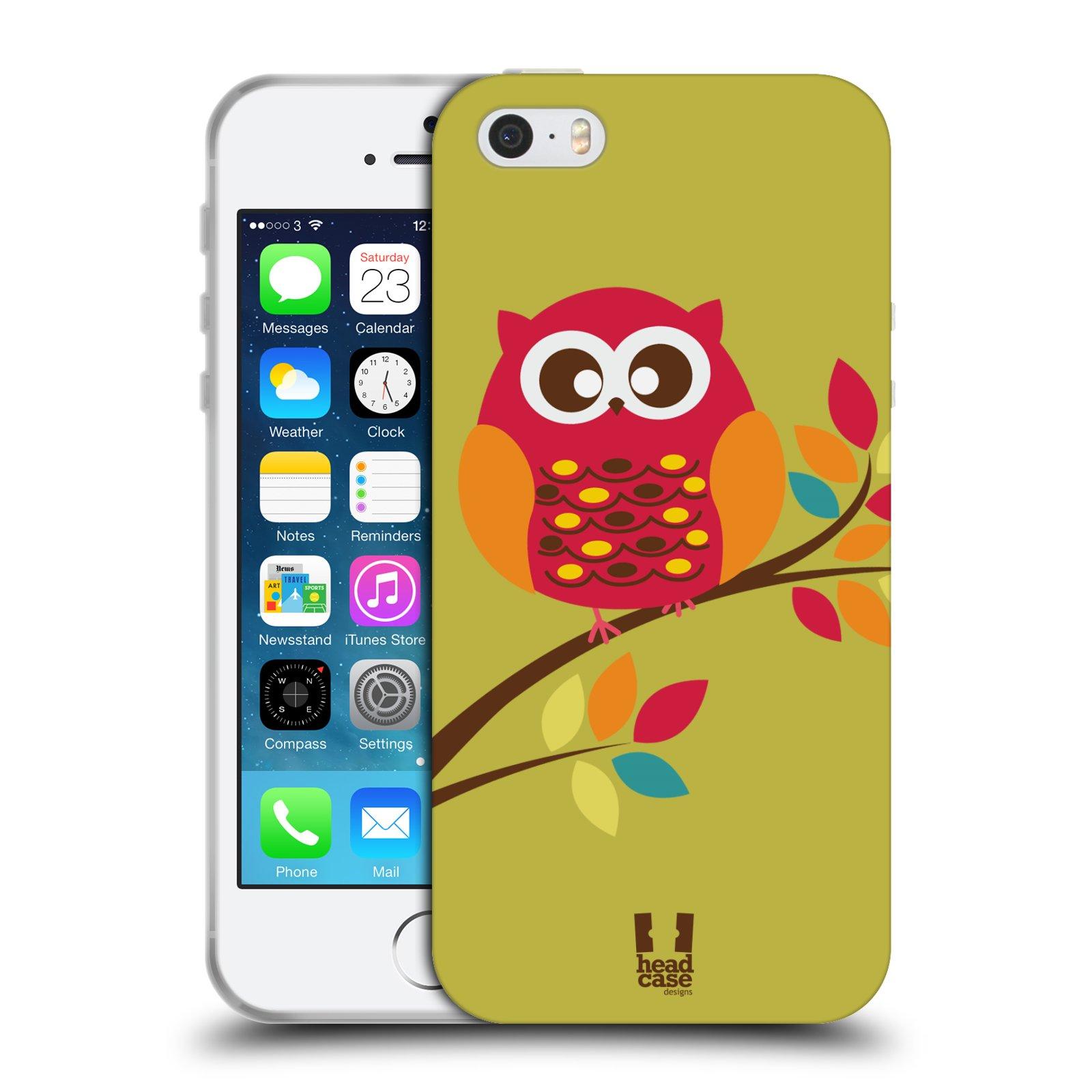 HEAD CASE silikonový obal na mobil Apple Iphone SE vzor Malé roztomilé  sovičky sedící na větvi bcac032b8c2