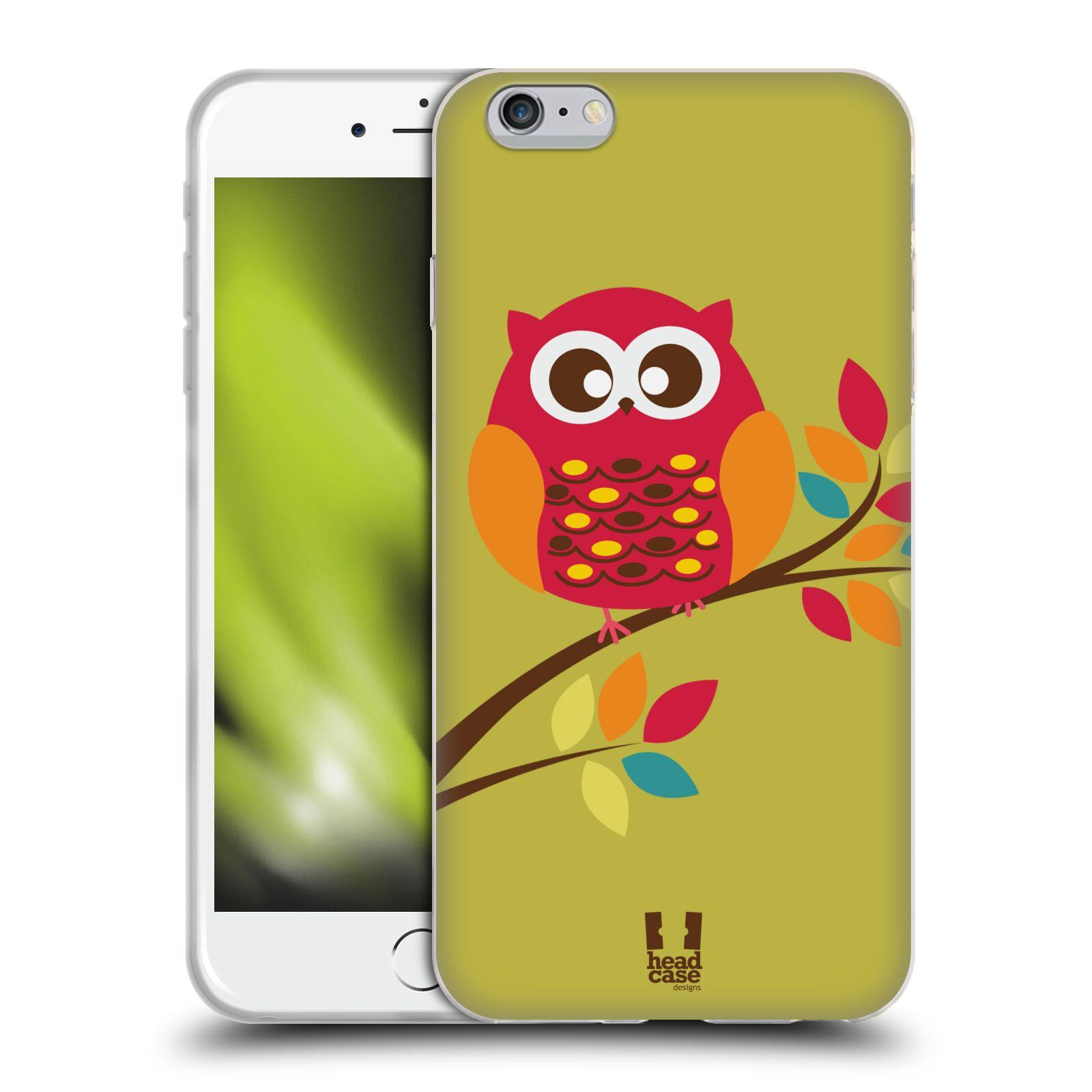 HEAD CASE silikonový obal na mobil Apple Iphone 6 PLUS/ 6S PLUS vzor Malé roztomilé sovičky sedící na větvi