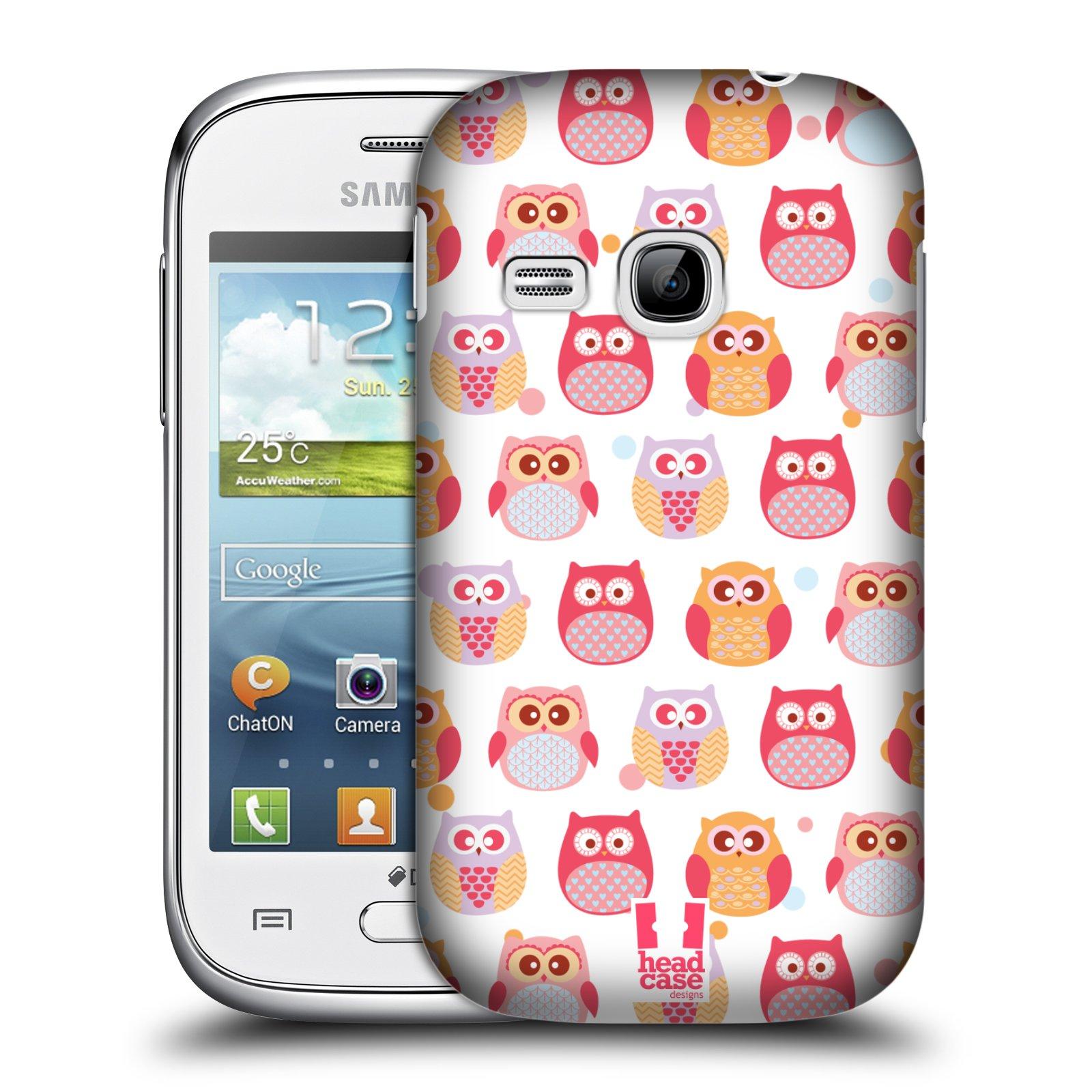 HEAD CASE plastový obal na mobil SAMSUNG Galaxy Young S6310 vzor Malé roztomilé sovičky malí nezbedové