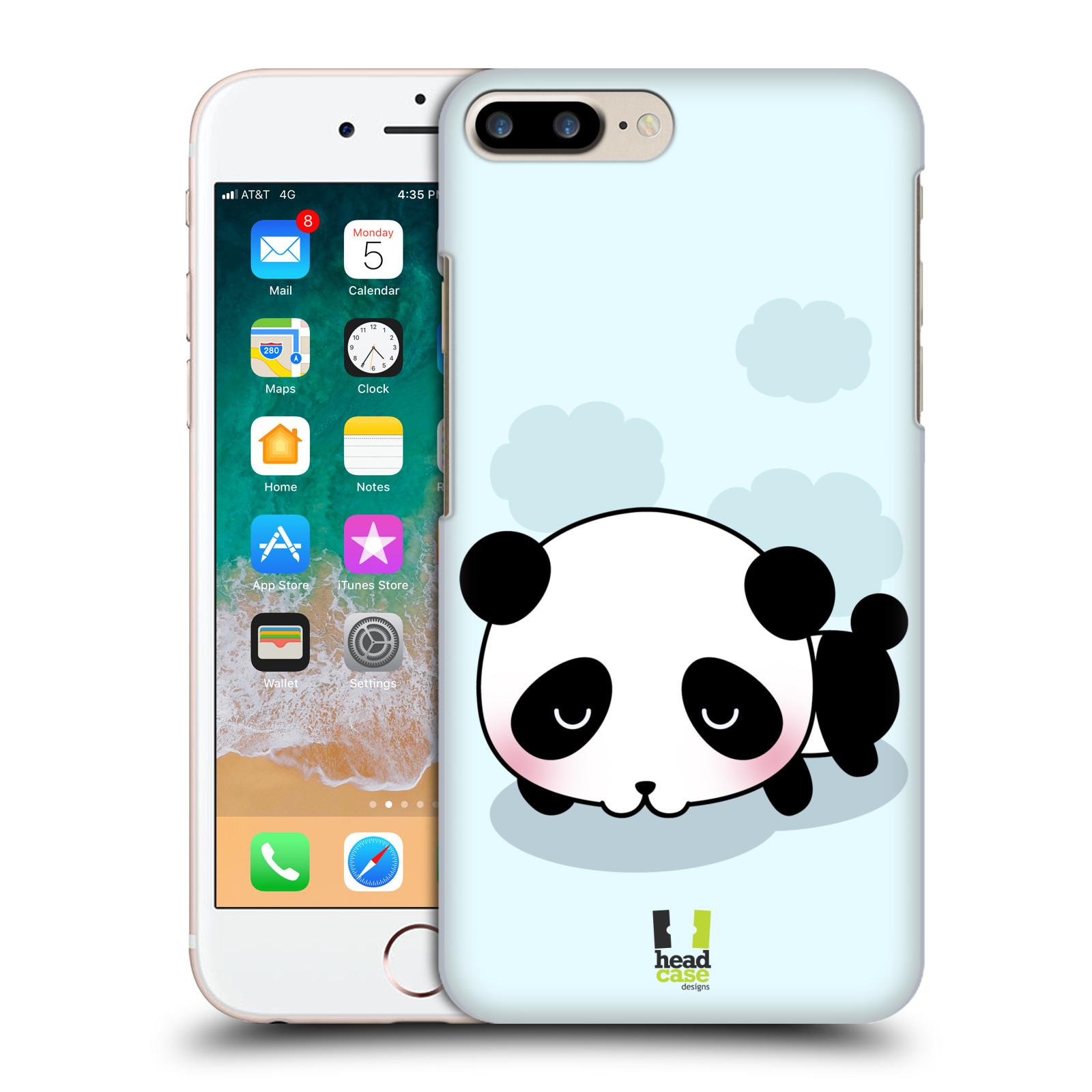 HEAD CASE plastový obal na mobil Apple Iphone 7 PLUS vzor Roztomilá panda modrá