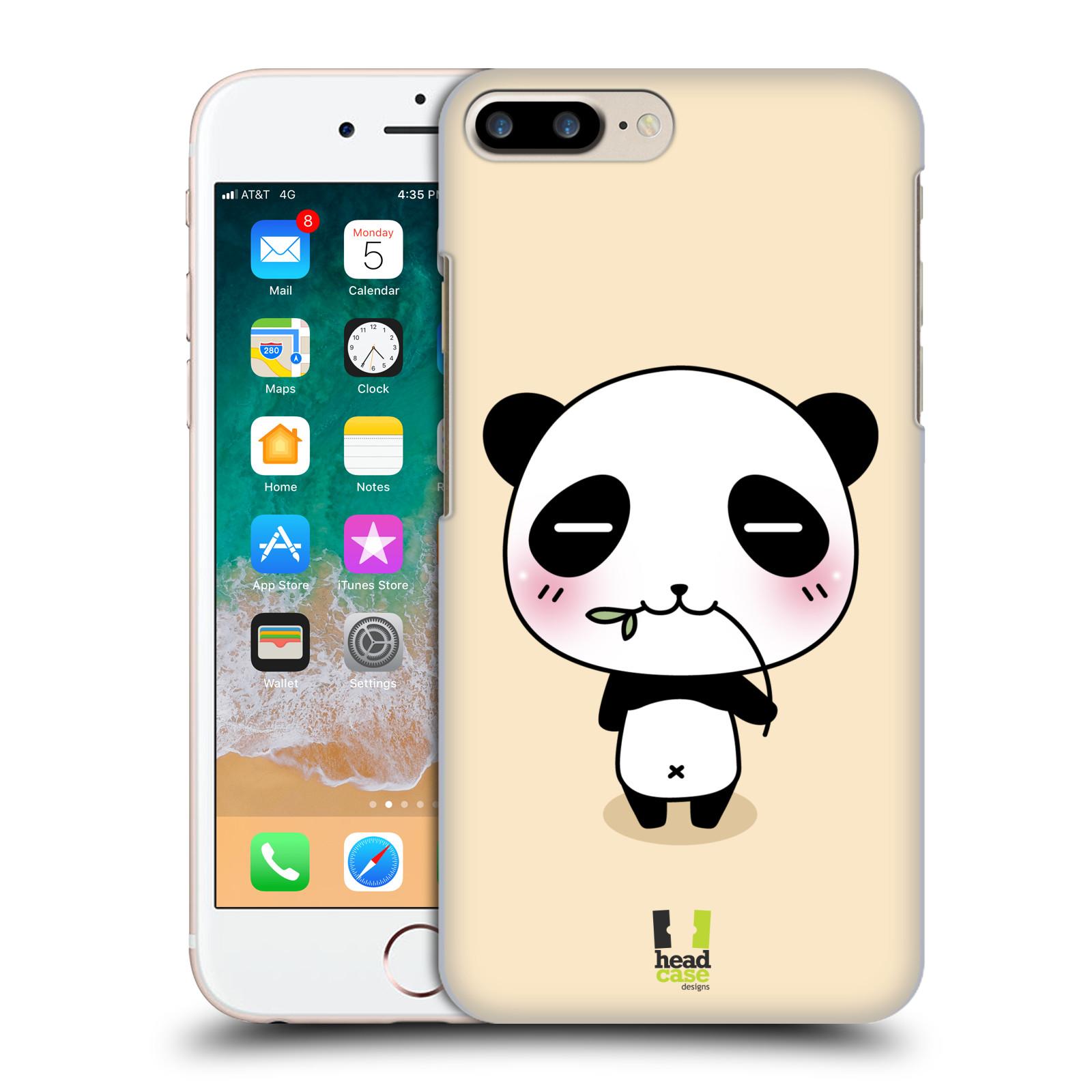 HEAD CASE plastový obal na mobil Apple Iphone 7 PLUS vzor Roztomilá panda krémová