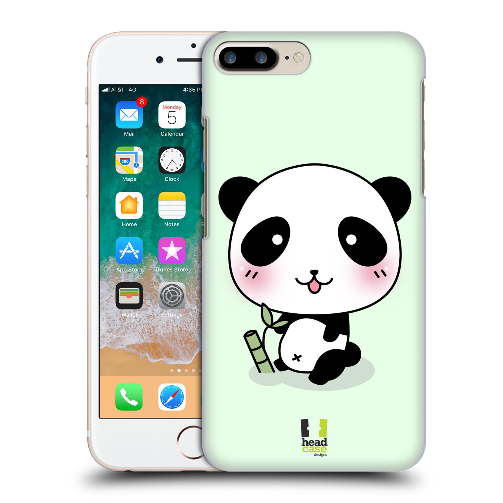 HEAD CASE plastový obal na mobil Apple Iphone 7 PLUS vzor Roztomilá panda zelená