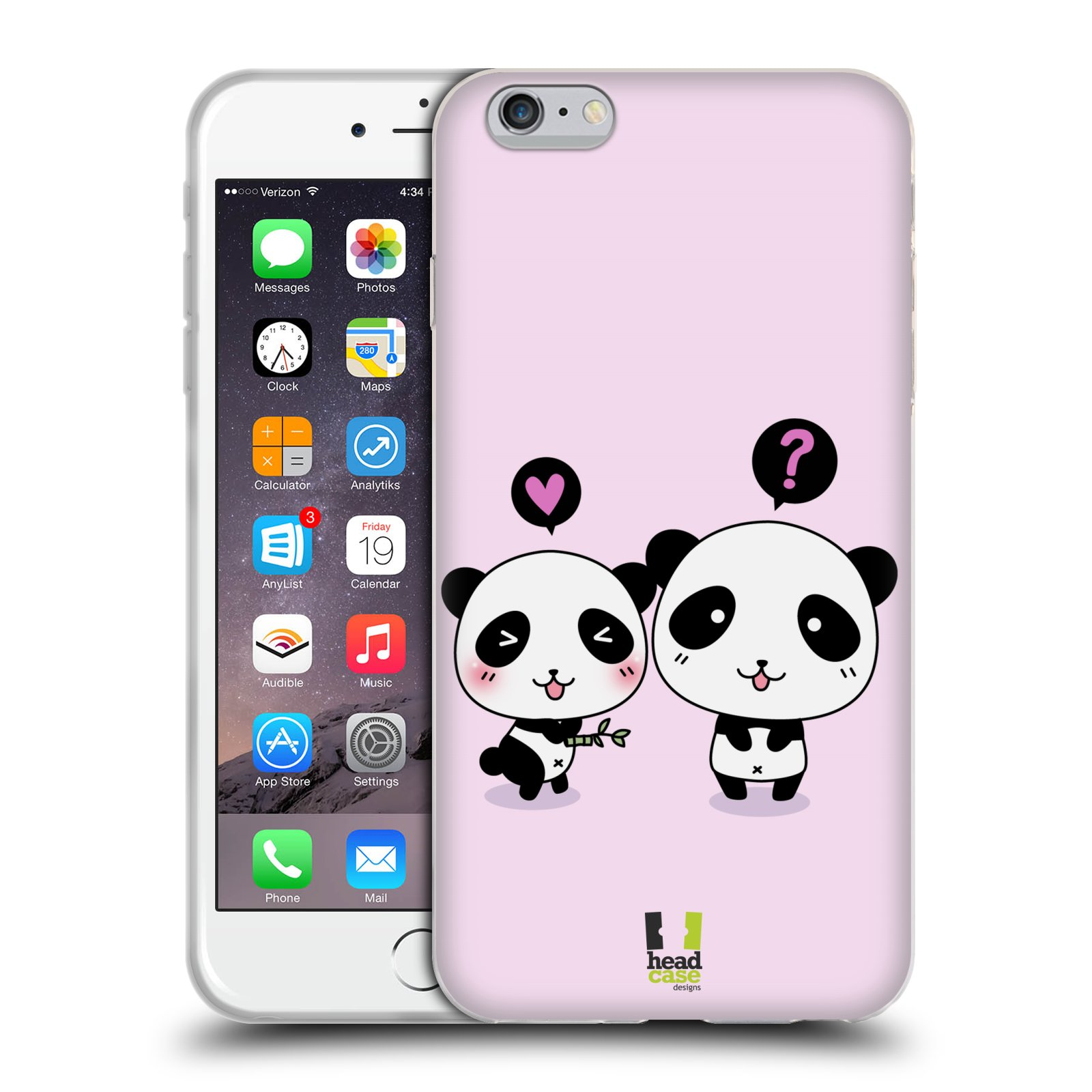 HEAD CASE silikonový obal na mobil Apple Iphone 6 PLUS/ 6S PLUS vzor Roztomilá panda růžová