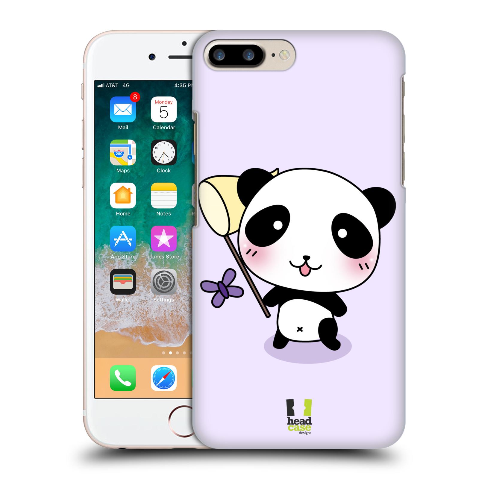 HEAD CASE plastový obal na mobil Apple Iphone 7 PLUS vzor Roztomilá panda fialová
