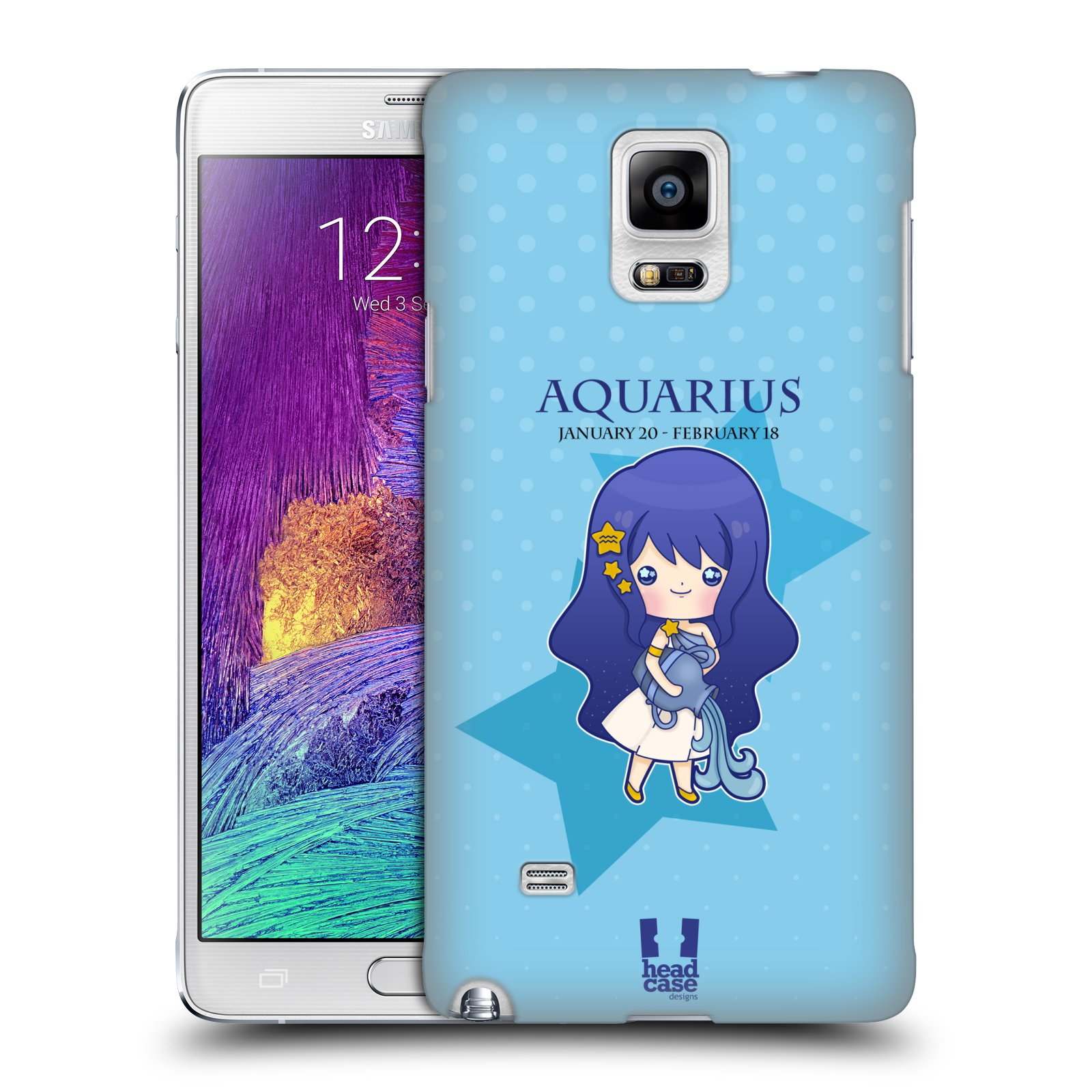 HEAD CASE DESIGNS KAWAII ZODIAC SIGNS CASE COVER FOR SAMSUNG GALAXY NOTE 4
