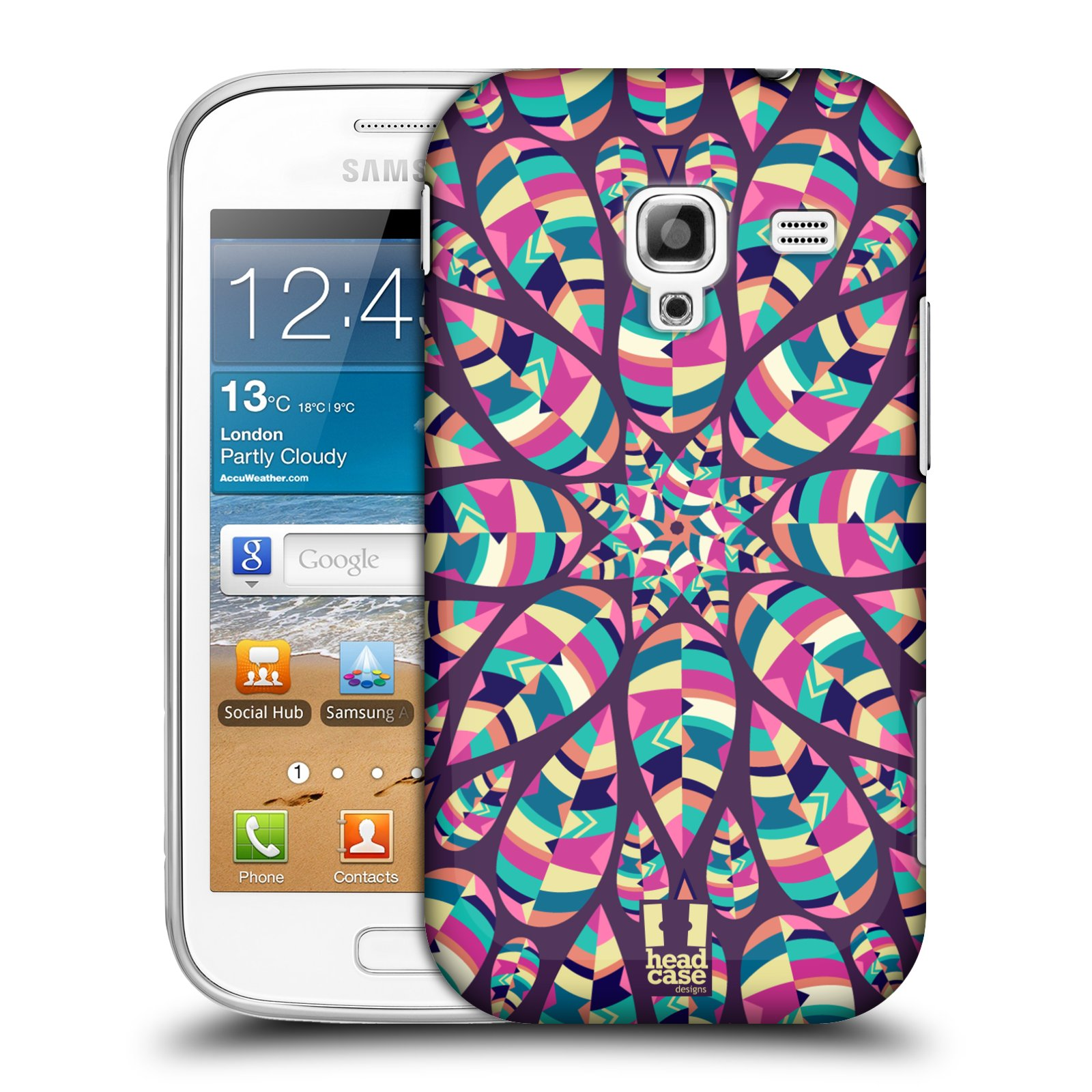 HEAD CASE DESIGNS LEAF PATTERNS 2 CASE COVER FOR SAMSUNG GALAXY ACE 2 I8160