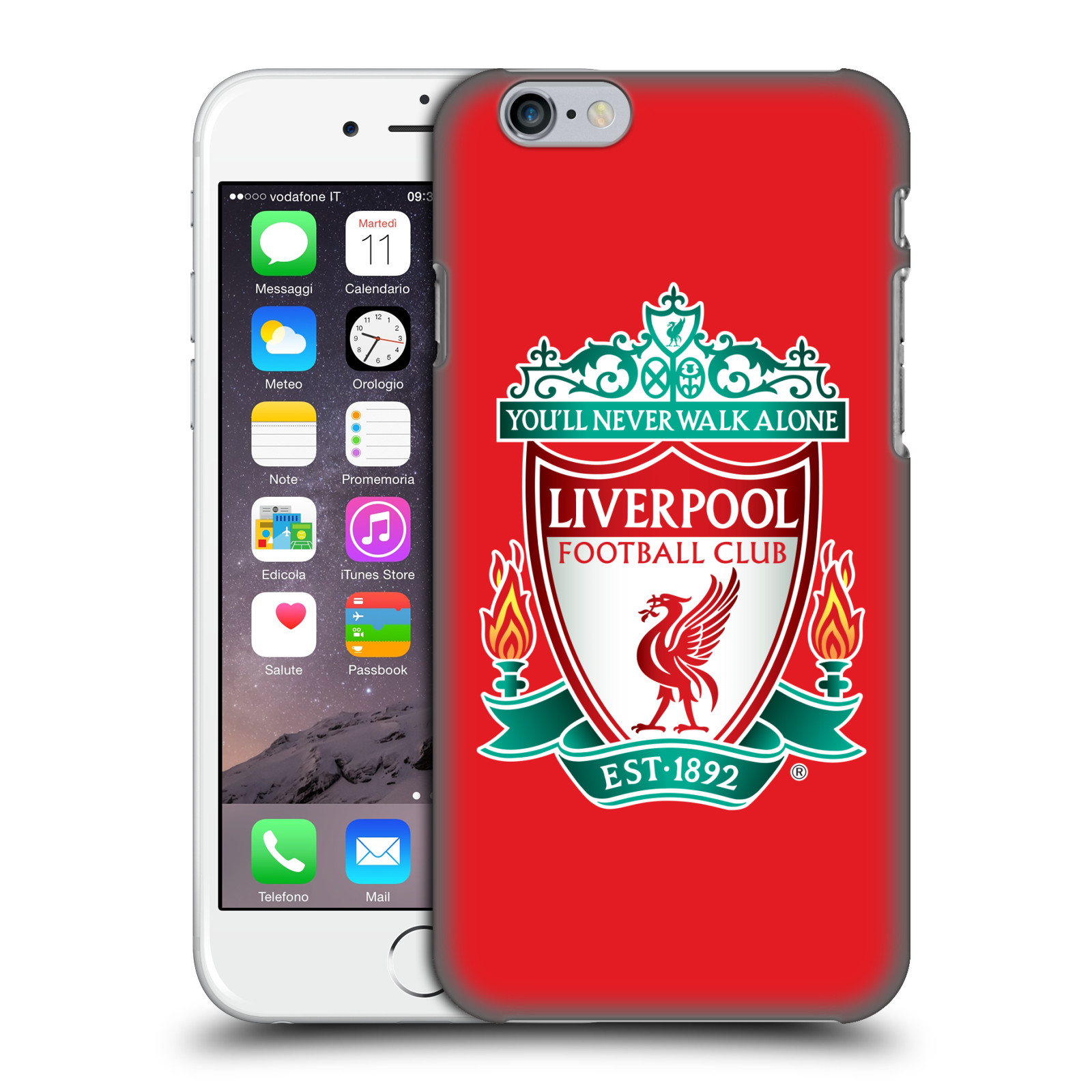 Liverpool FC LFC Crest 1-Red 1