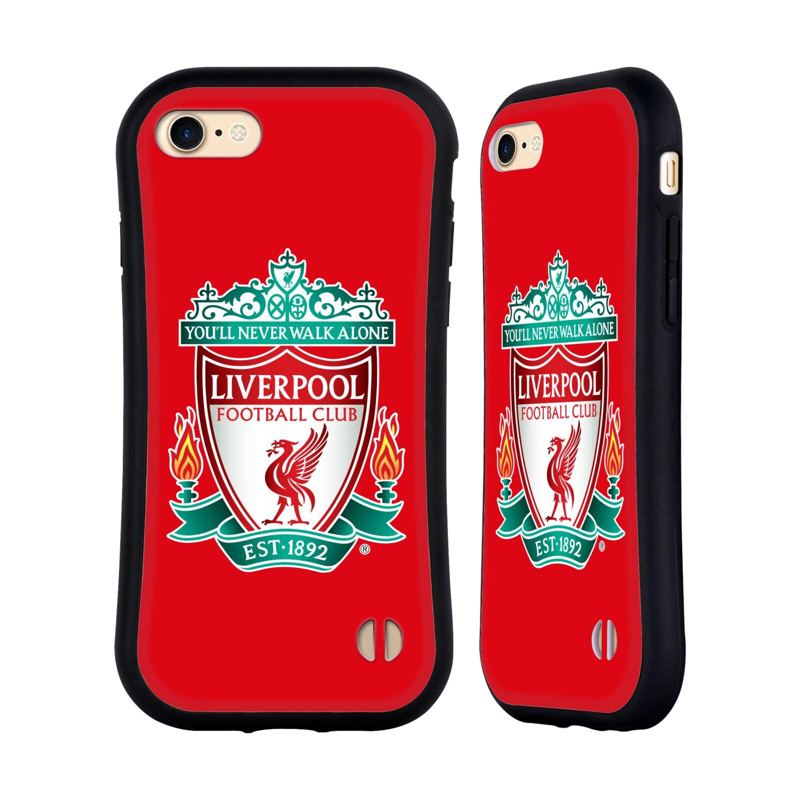 HEAD CASE odolný obal na mobil Apple Iphone 8 Fotbalový klub Liverpool barevný znak červené pozadí