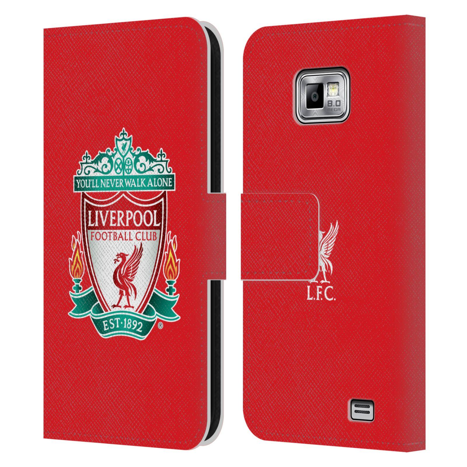 HEAD CASE Flipové pouzdro pro mobil Samsung Galaxy S2 i9100 LIVERPOOL FC OFICIÁLNÍ ZNAK barevný znak na červené