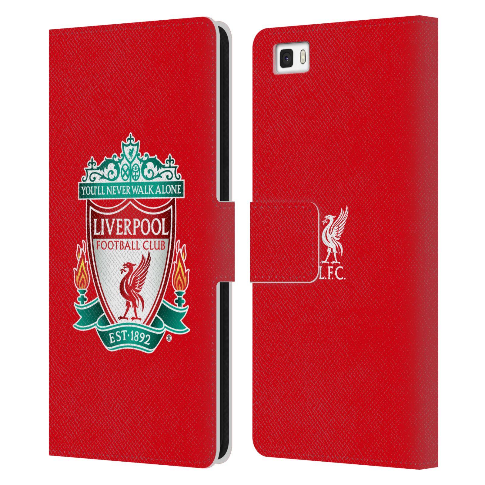 HEAD CASE Flipové pouzdro pro mobil Huawei P8 LITE LIVERPOOL FC OFICIÁLNÍ ZNAK barevný znak na červené