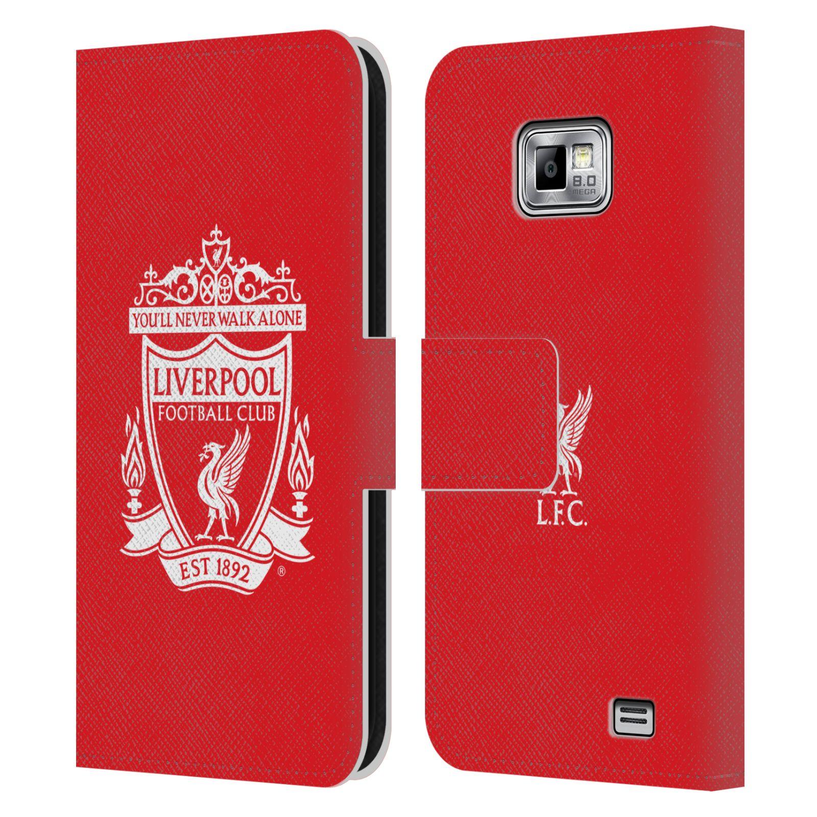 HEAD CASE Flipové pouzdro pro mobil Samsung Galaxy S2 i9100 LIVERPOOL FC OFICIÁLNÍ ZNAK bílý znak na červené