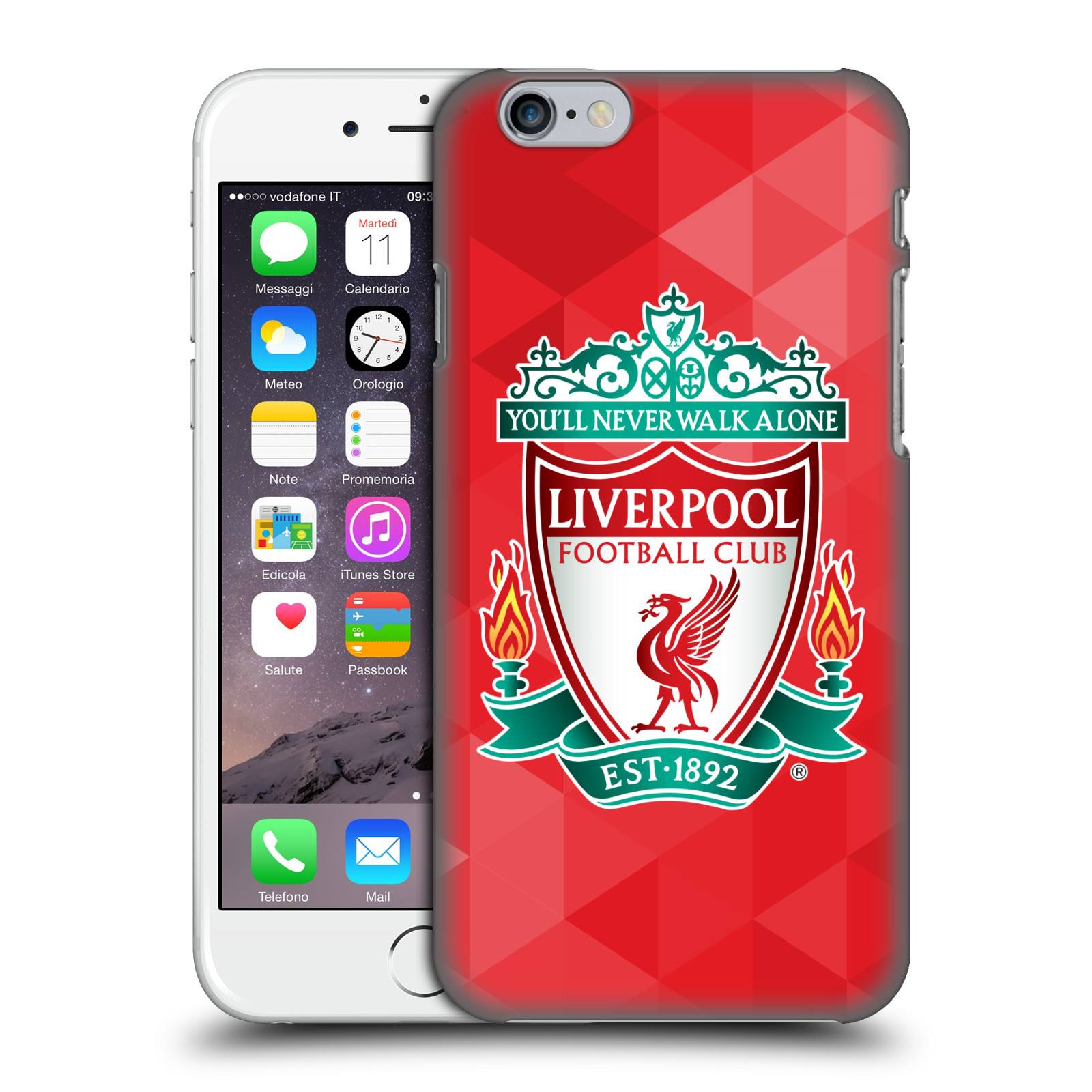 Liverpool FC LFC Crest 1-Red Geometric 1