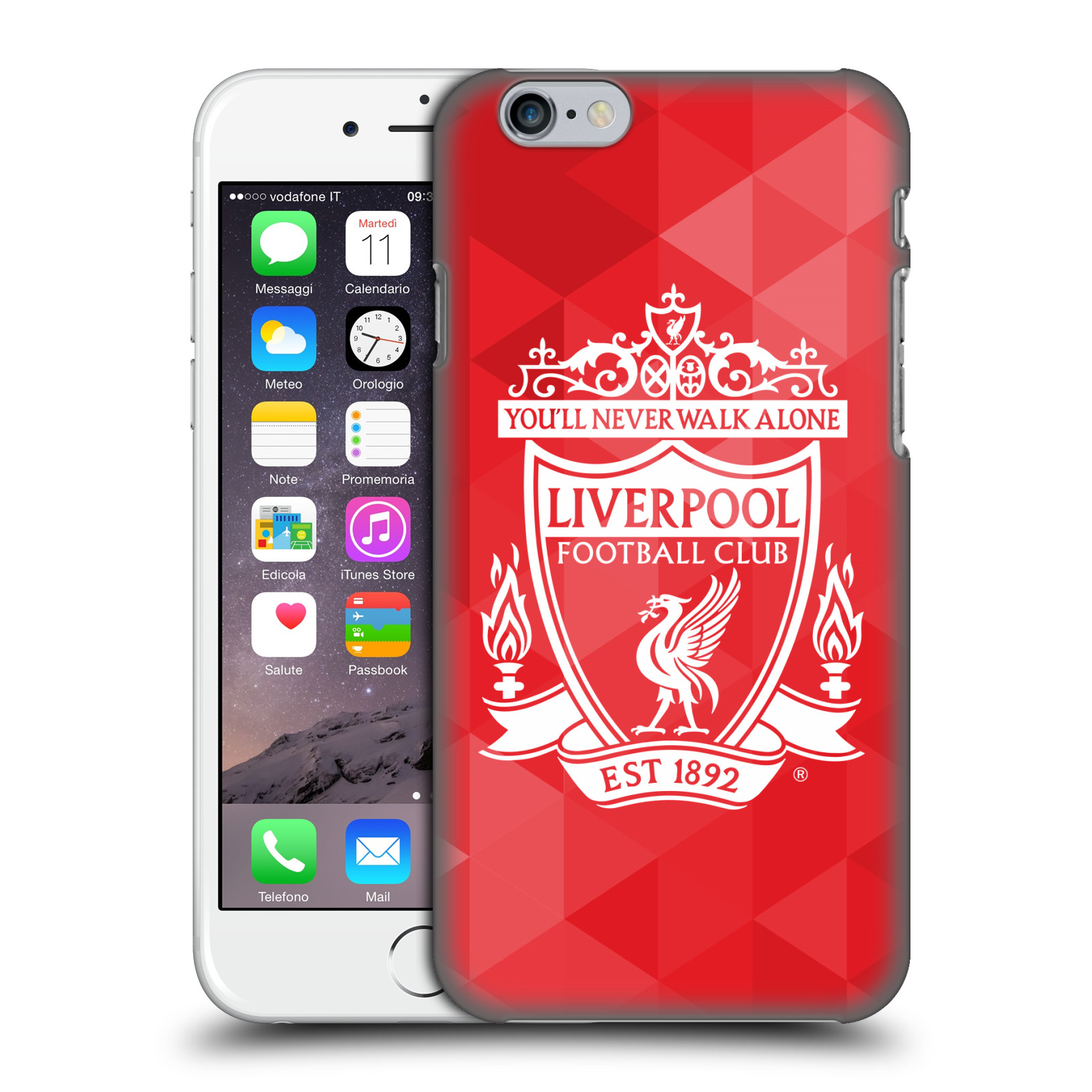Liverpool FC LFC Crest 1-Red Geometric 2