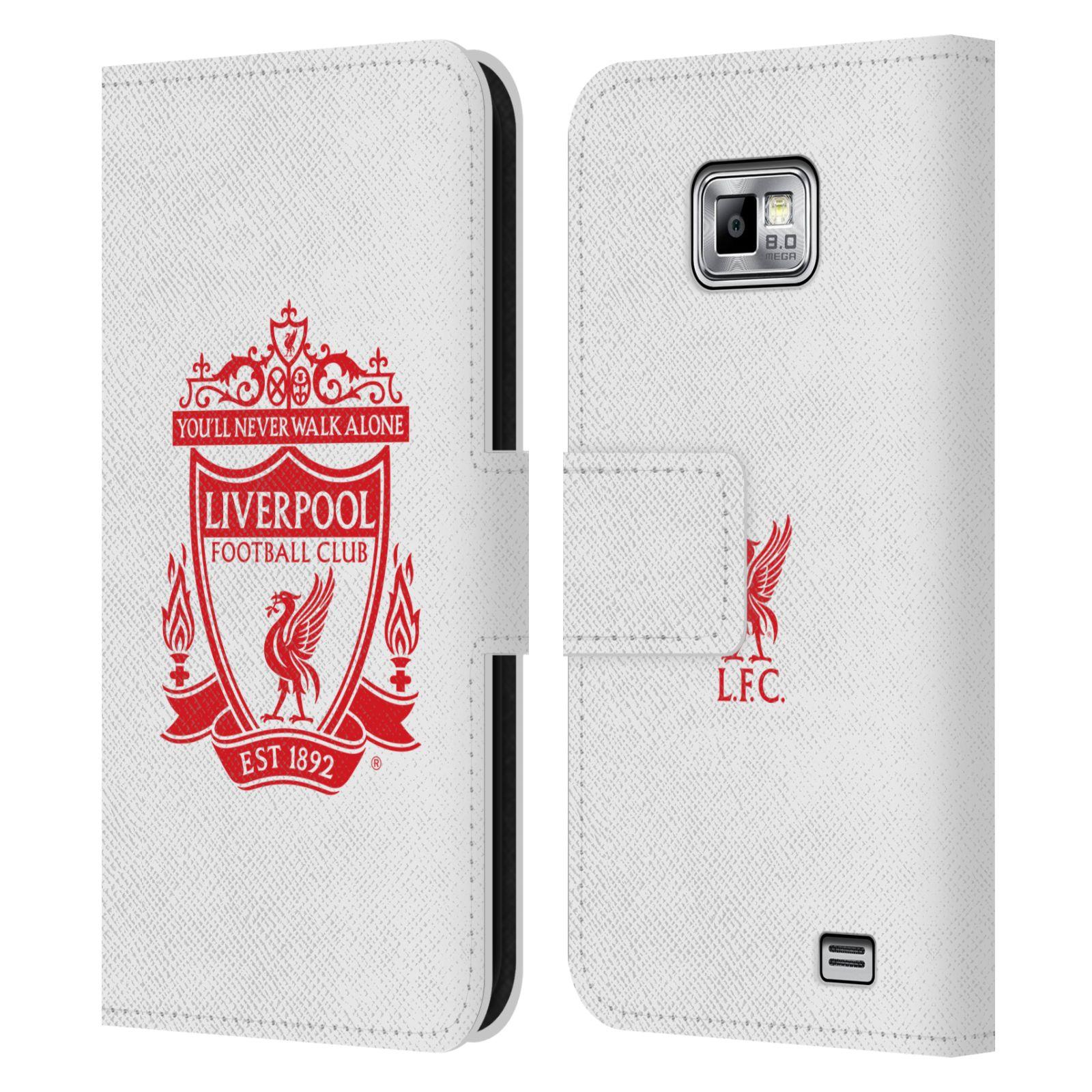 HEAD CASE Flipové pouzdro pro mobil Samsung Galaxy S2 i9100 LIVERPOOL FC OFICIÁLNÍ ZNAK červený znak na bílé