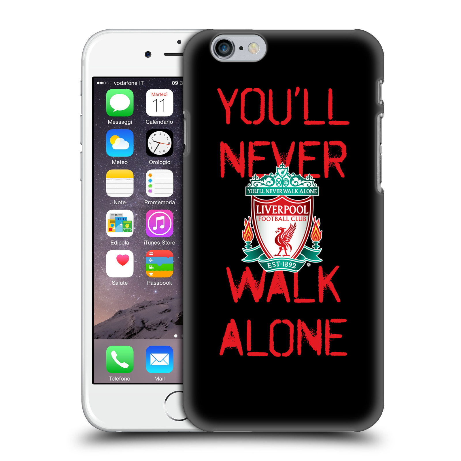 Liverpool FC LFC Crest You'll Never Walk Alone-Spraypaint Black