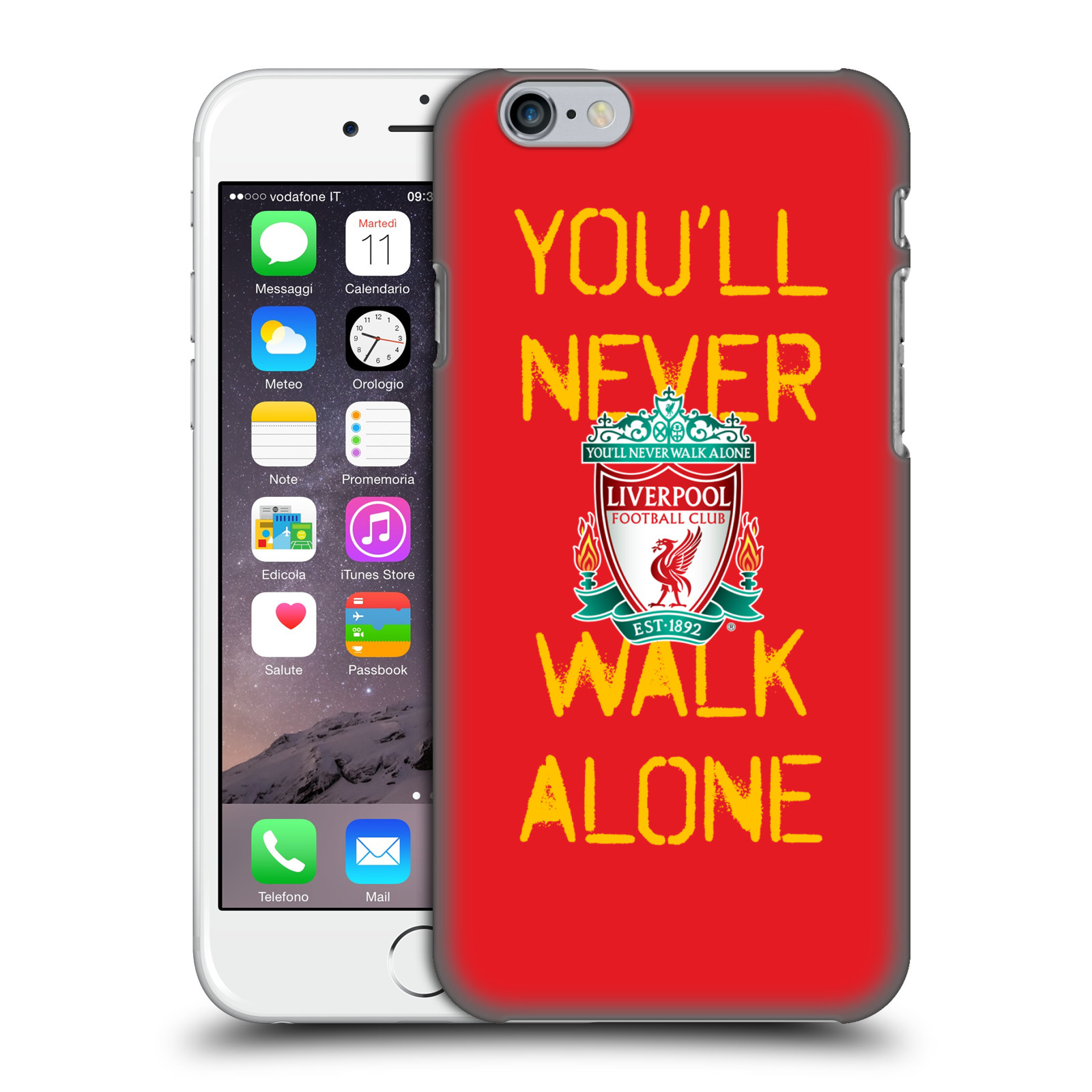 Liverpool FC LFC Crest You'll Never Walk Alone-Spraypaint Red