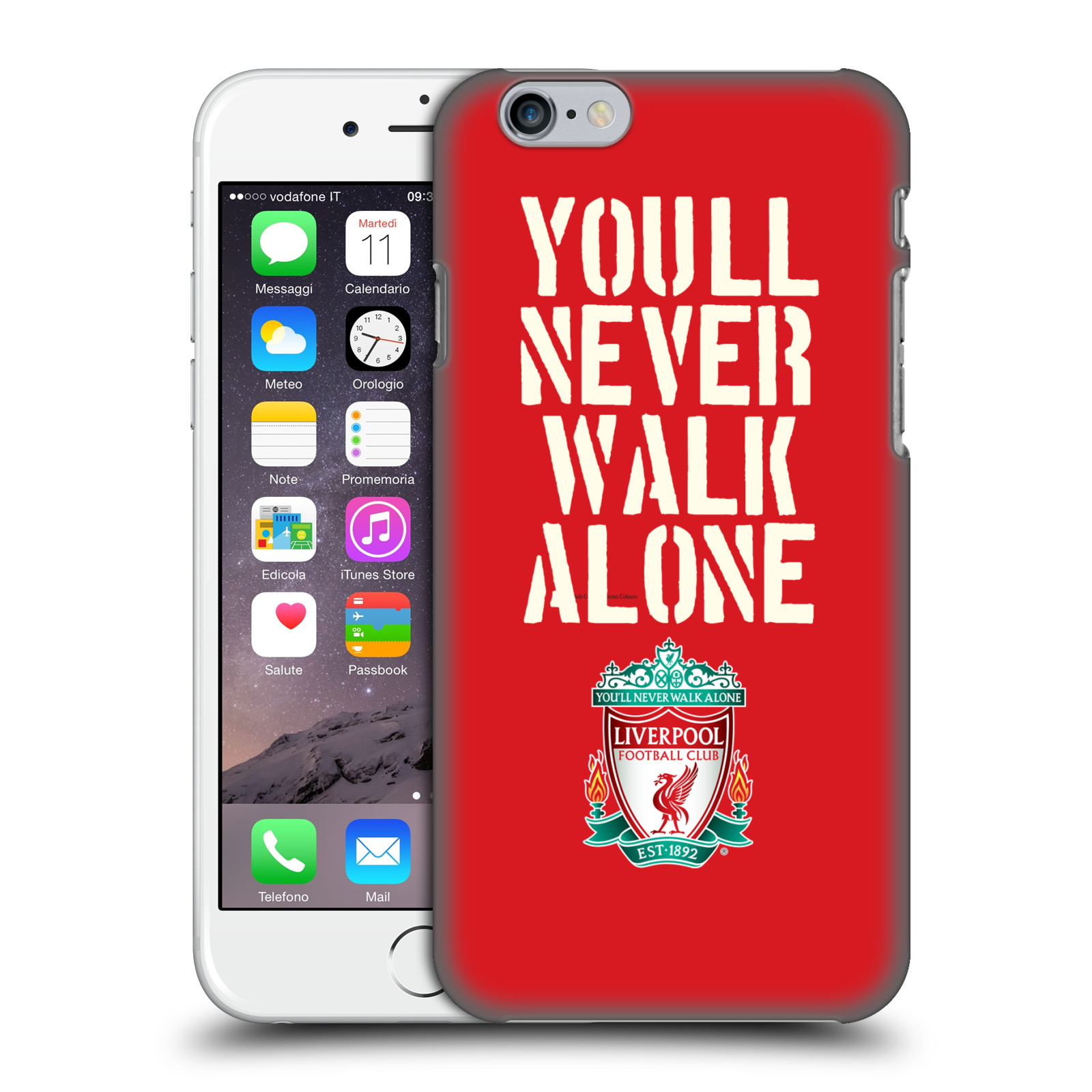 Liverpool FC LFC Crest You'll Never Walk Alone-Stencil Red