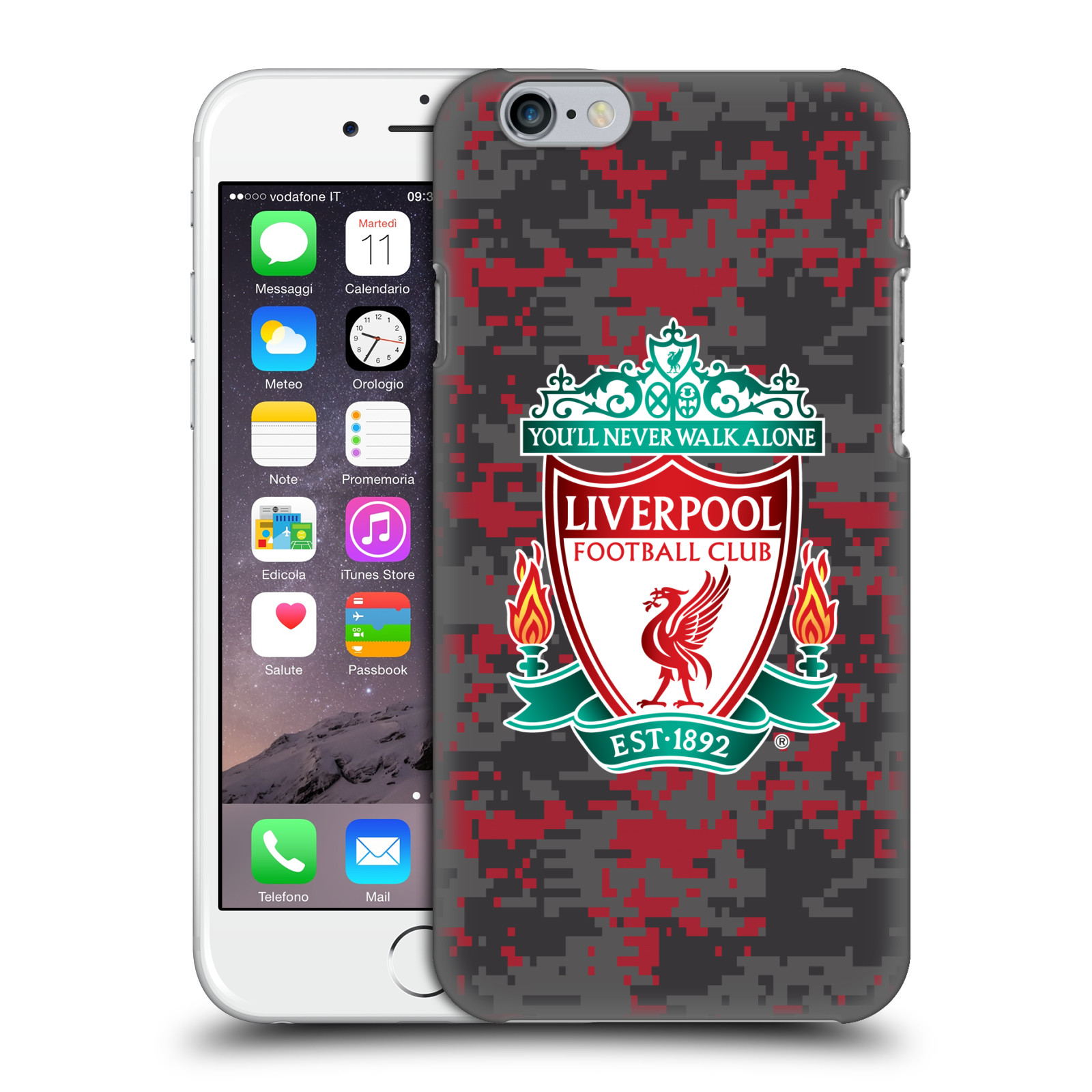 Liverpool FC LFC Digital Camouflage-Club Colours Crest