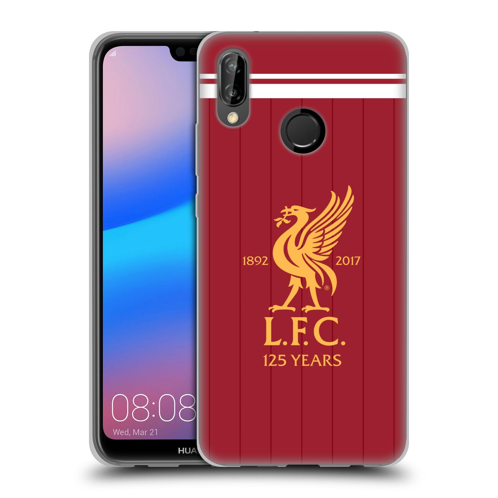 HEAD CASE silikonový obal na mobil Huawei P20 LITE Fotbalový klub Liverpool fotbalový dres pták domácí rudá