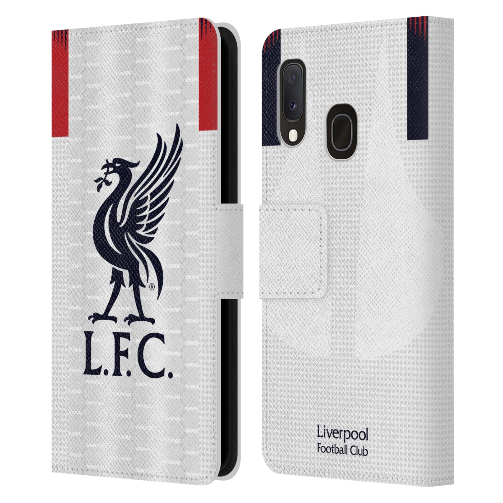 Pouzdro na mobil Samsung Galaxy A20e - Head Case - fotbalový klub liverpool bílý dres