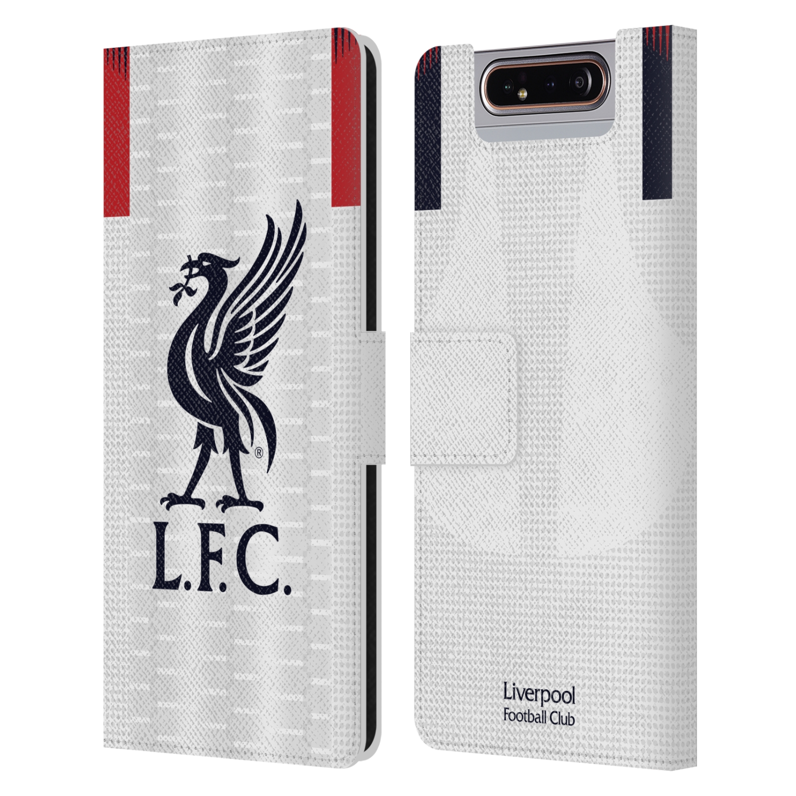 Pouzdro na mobil Samsung Galaxy A80 - Head Case - fotbalový klub liverpool bílý dres