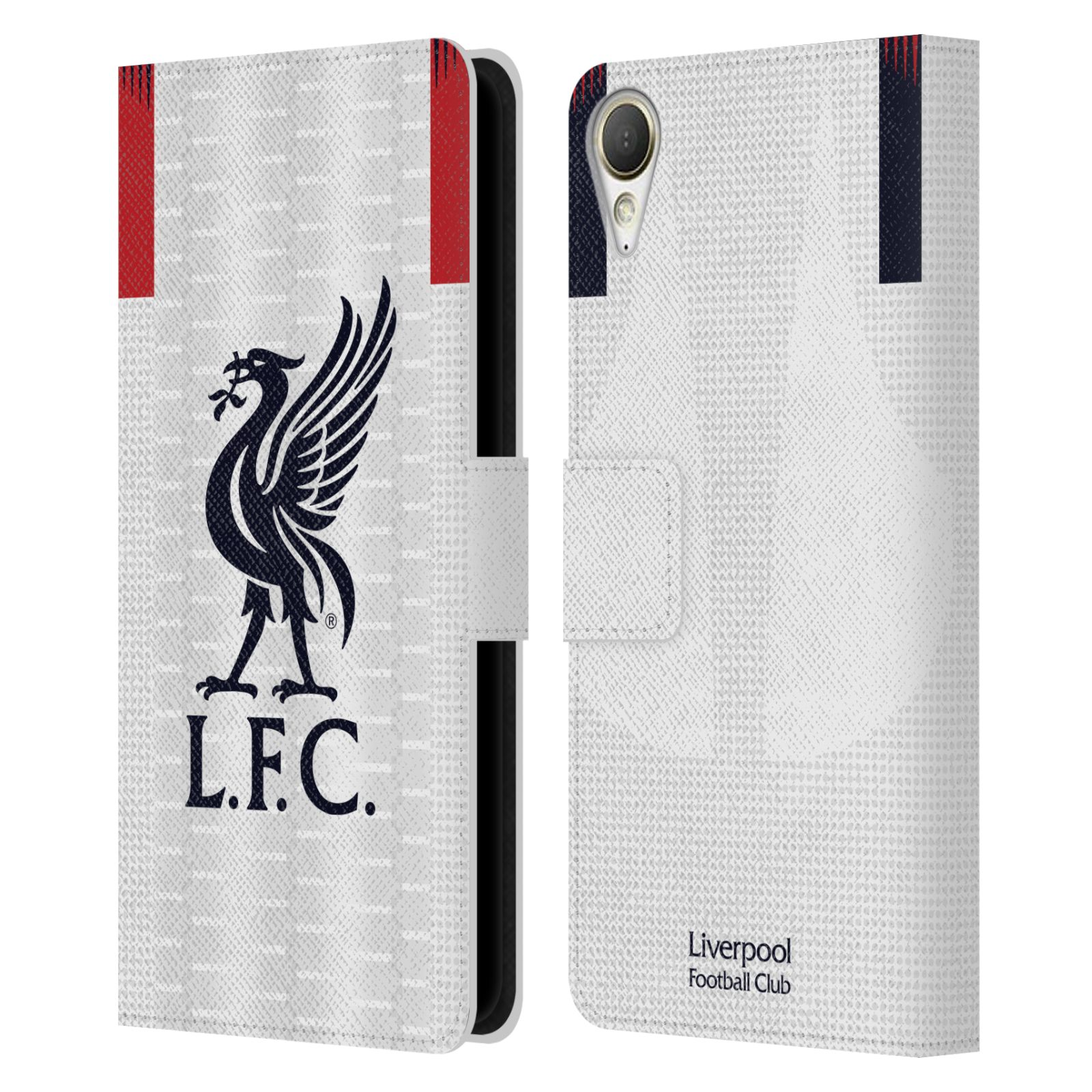 Pouzdro na mobil HTC Desire 10 Lifestyle - Head Case - fotbalový klub liverpool bílý dres