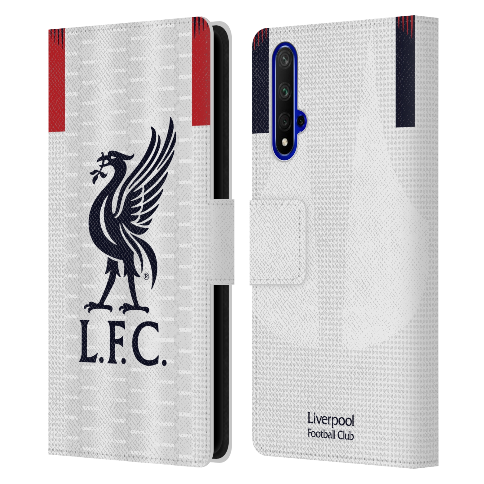 Pouzdro na mobil Honor 20 - Head Case - fotbalový klub liverpool bílý dres