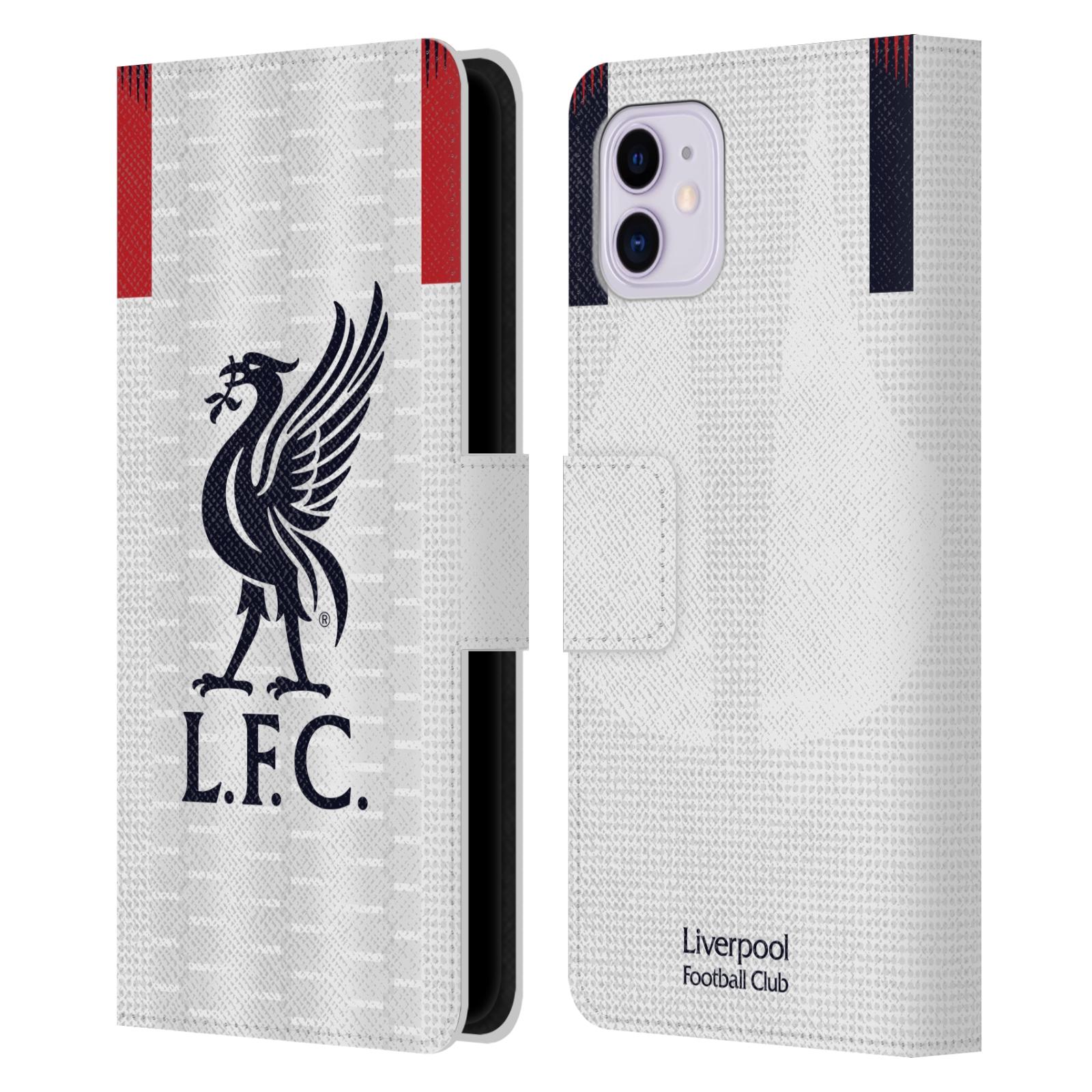 Pouzdro na mobil Apple Iphone 11 - Head Case - fotbalový klub liverpool bílý dres