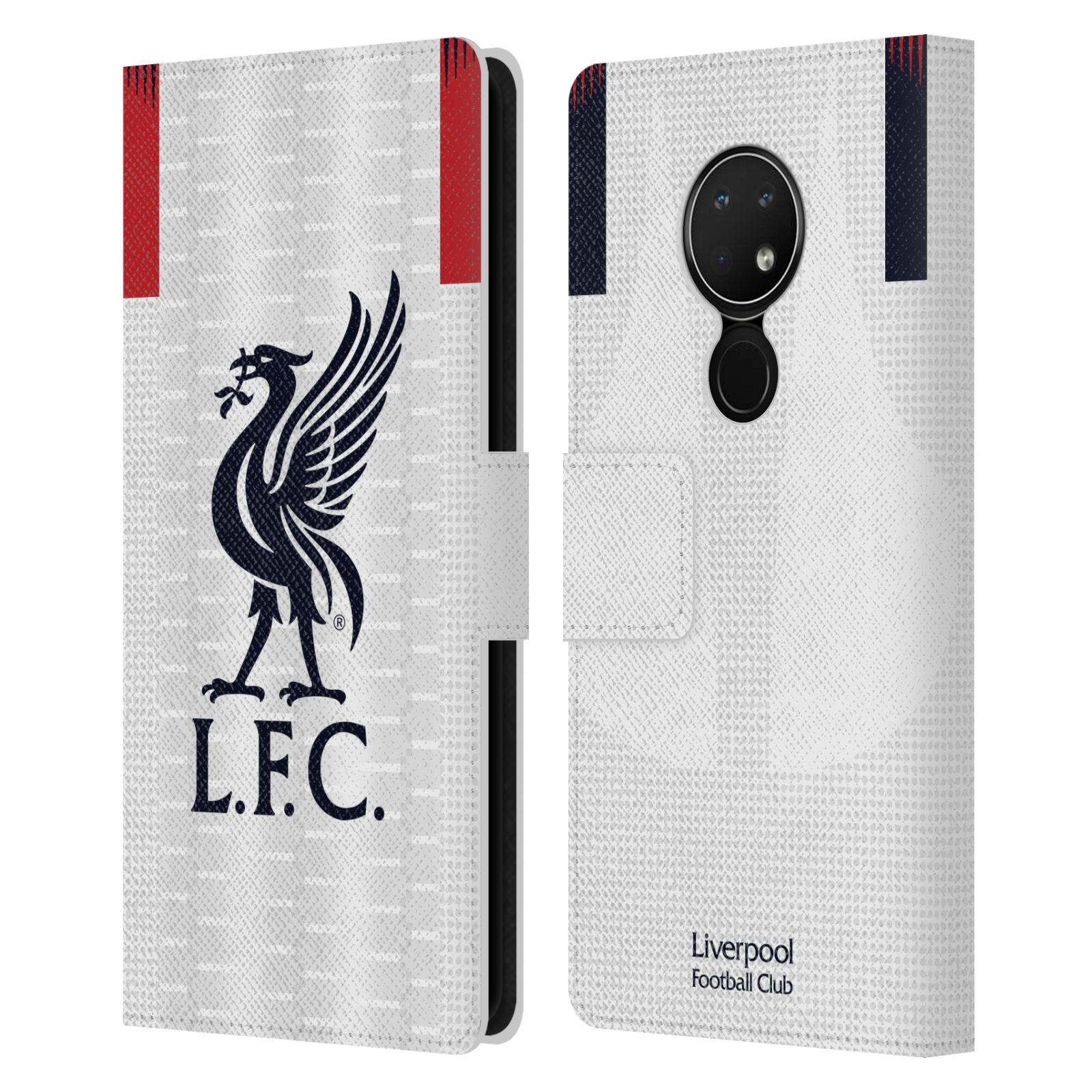 Pouzdro na mobil Nokia 6.2 - Head Case - fotbalový klub liverpool bílý dres