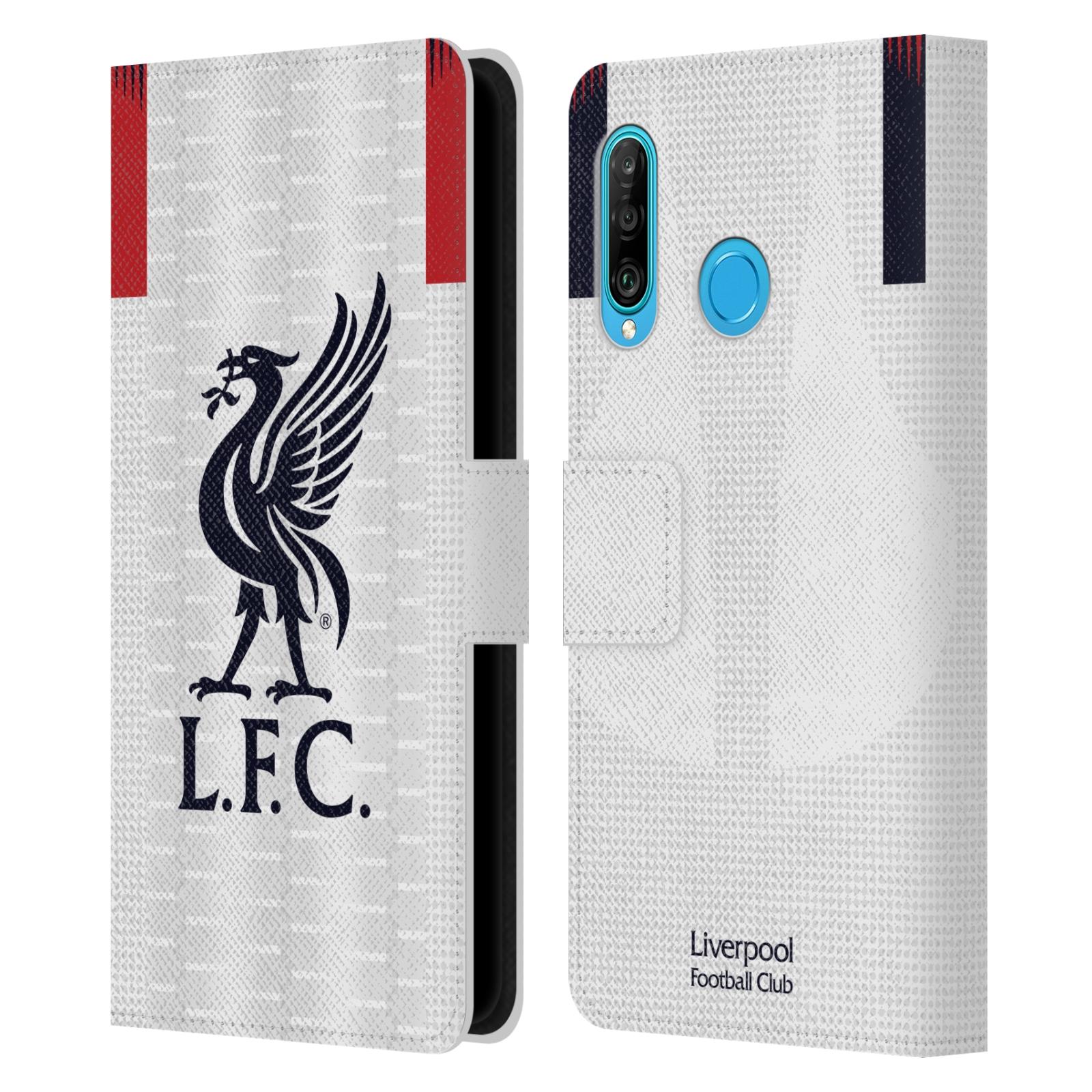 Pouzdro na mobil Huawei P30 LITE - Head Case - fotbalový klub liverpool bílý dres