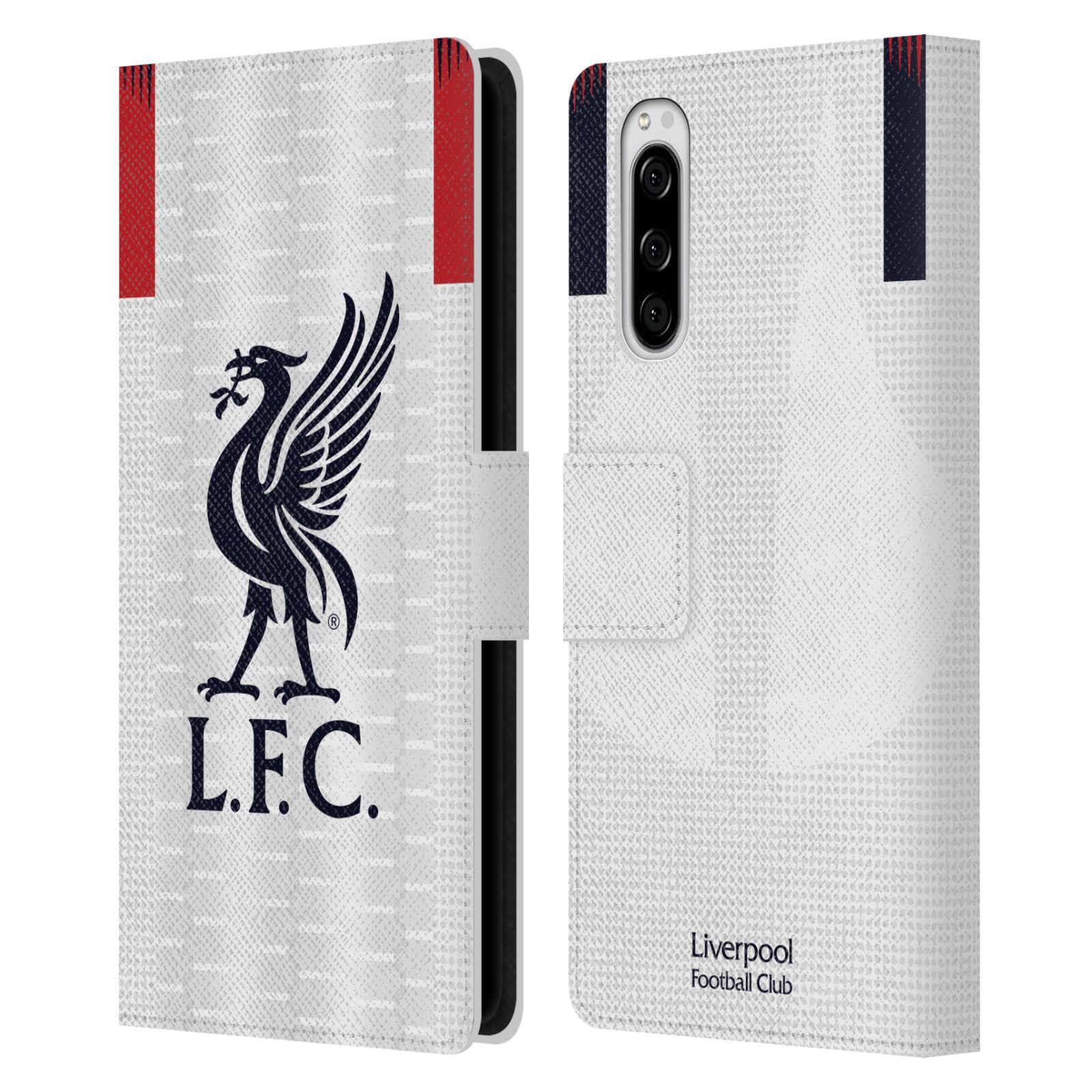 Pouzdro na mobil Sony Xperia 5 - Head Case - fotbalový klub liverpool bílý dres