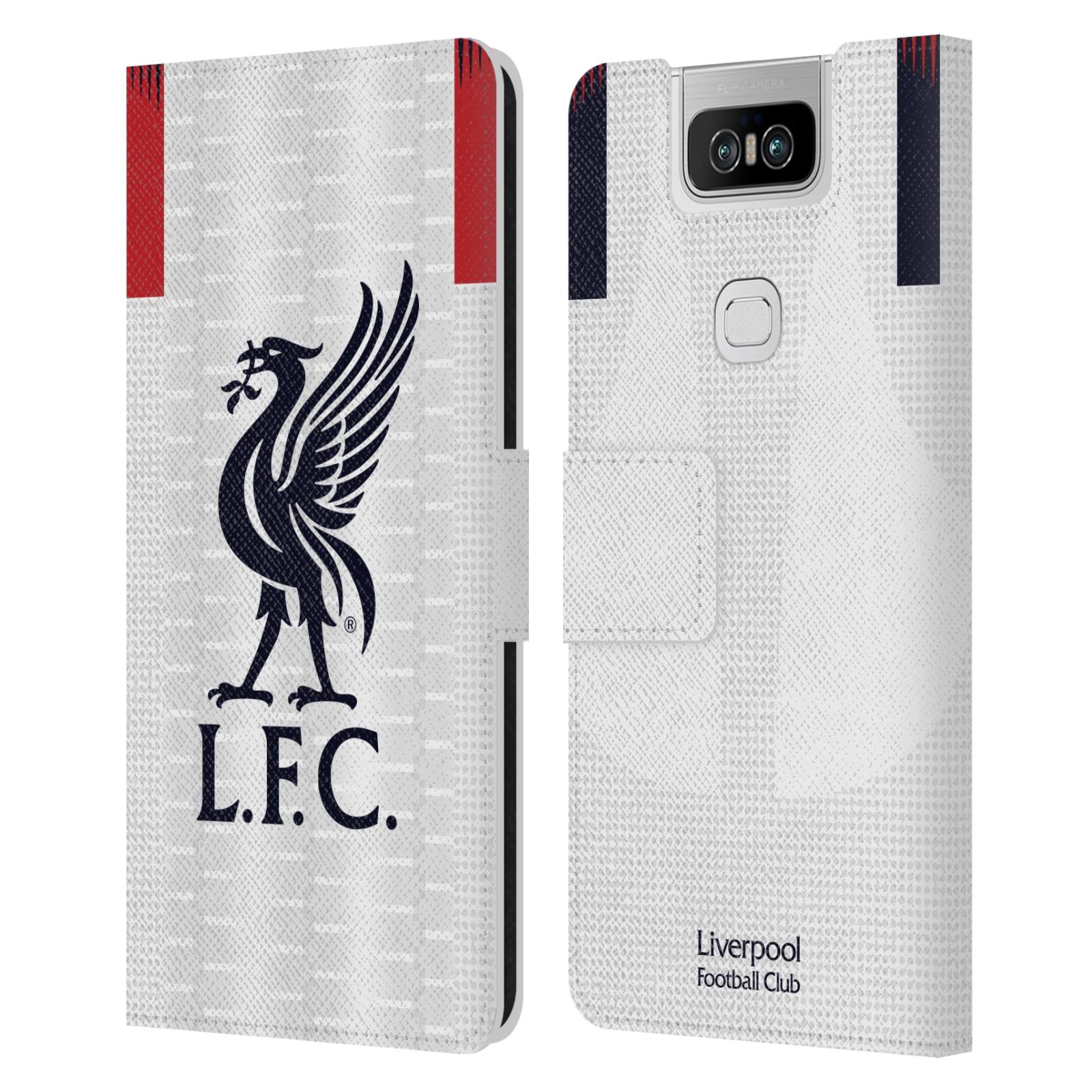 Pouzdro na mobil Asus Zenfone 6 ZS630KL - Head Case - fotbalový klub liverpool bílý dres