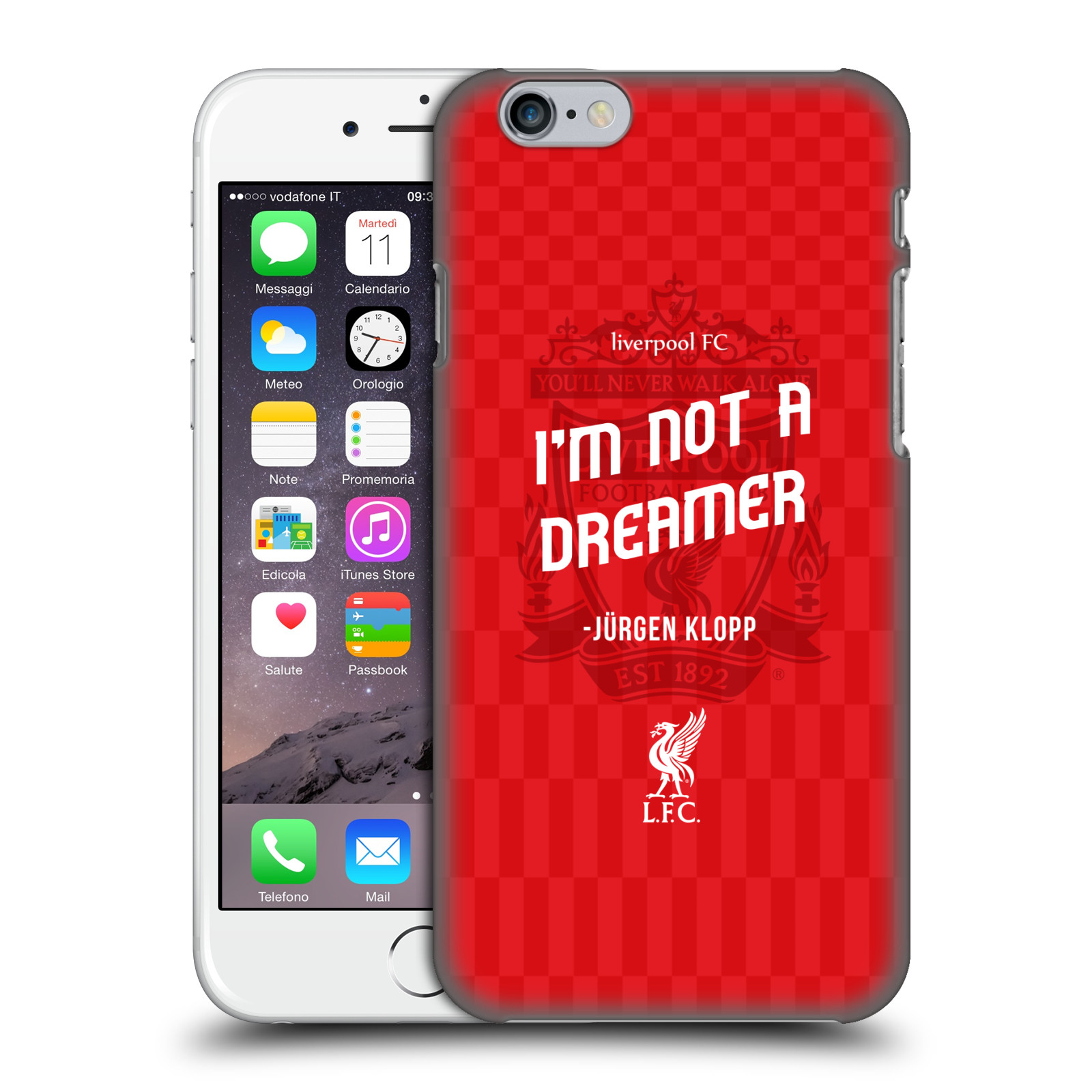 Liverpool FC LFC Klopp Quotes-Not a Dreamer Red