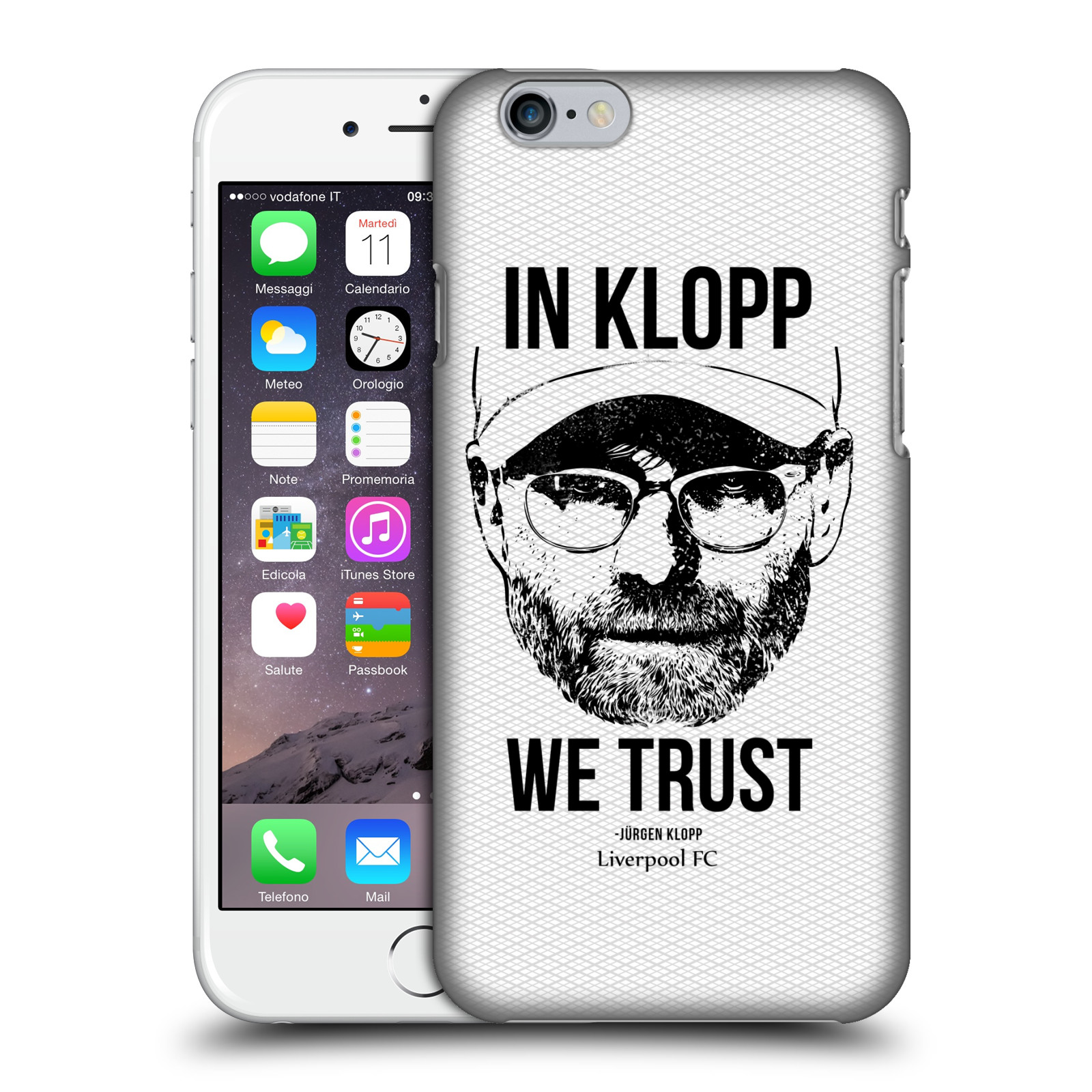 Liverpool FC LFC Jurgen Klopp Illustrations-Full Face White