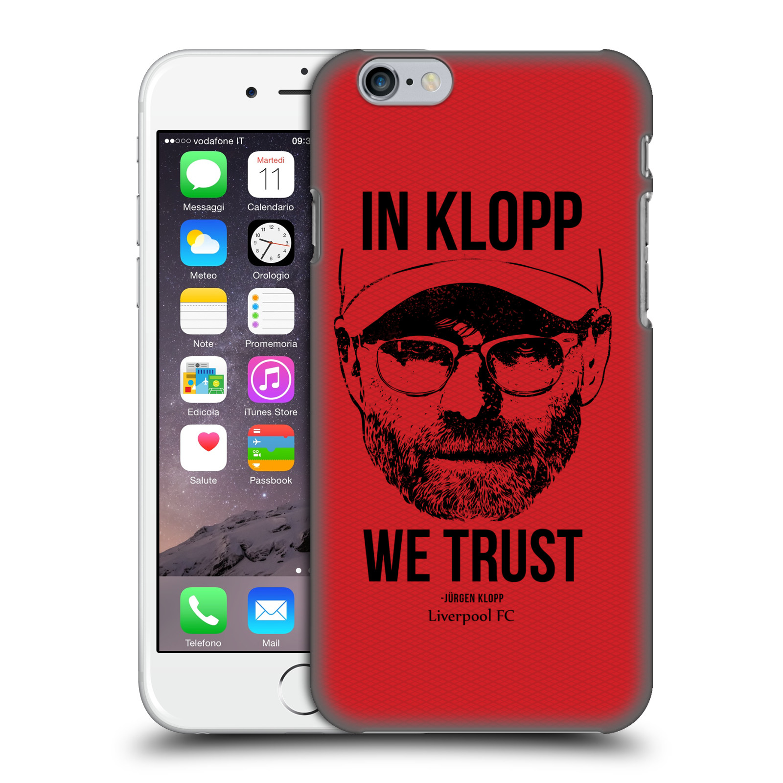 Liverpool FC LFC Jurgen Klopp Illustrations-Full Face Red