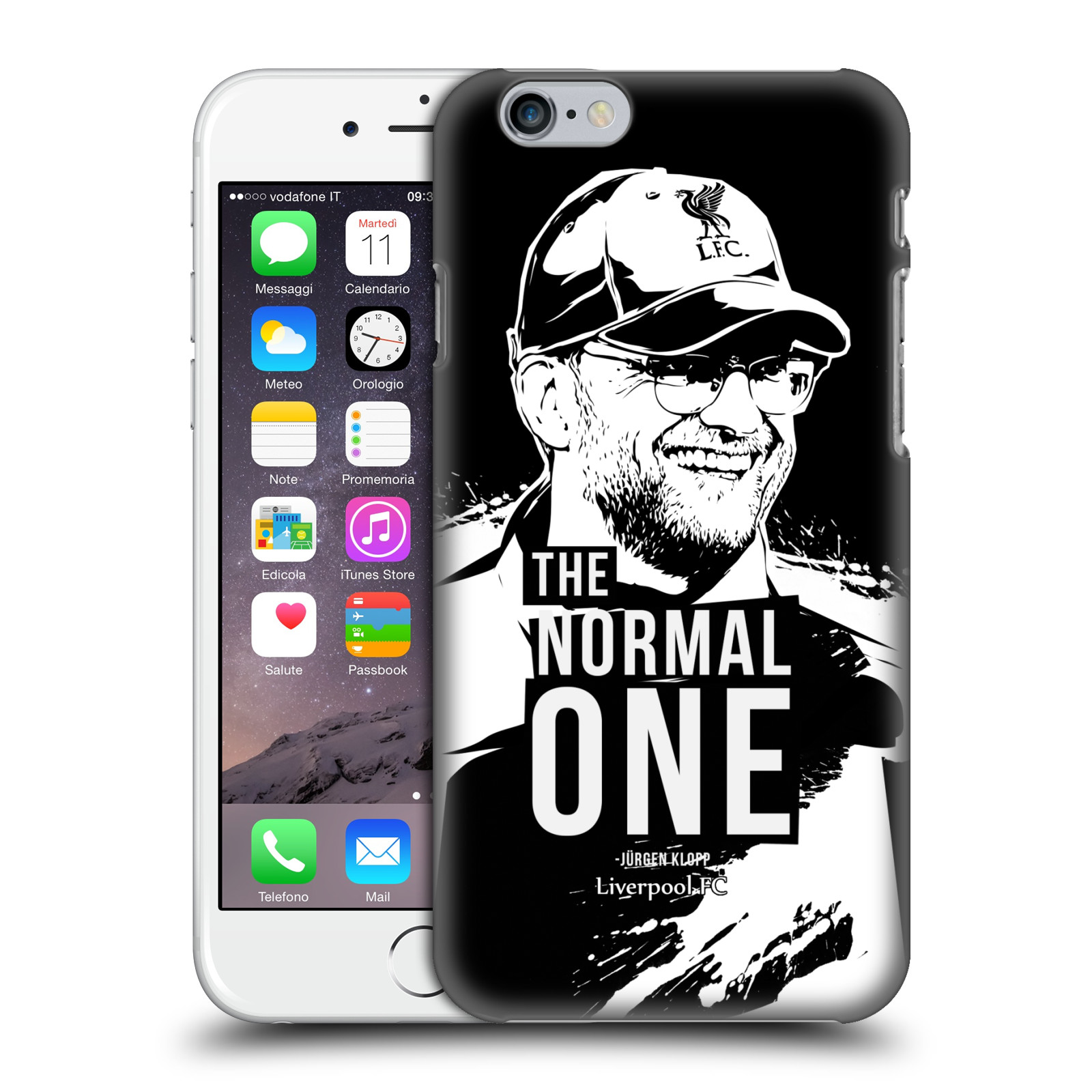 Liverpool FC LFC Jurgen Klopp Illustrations-Smile Black