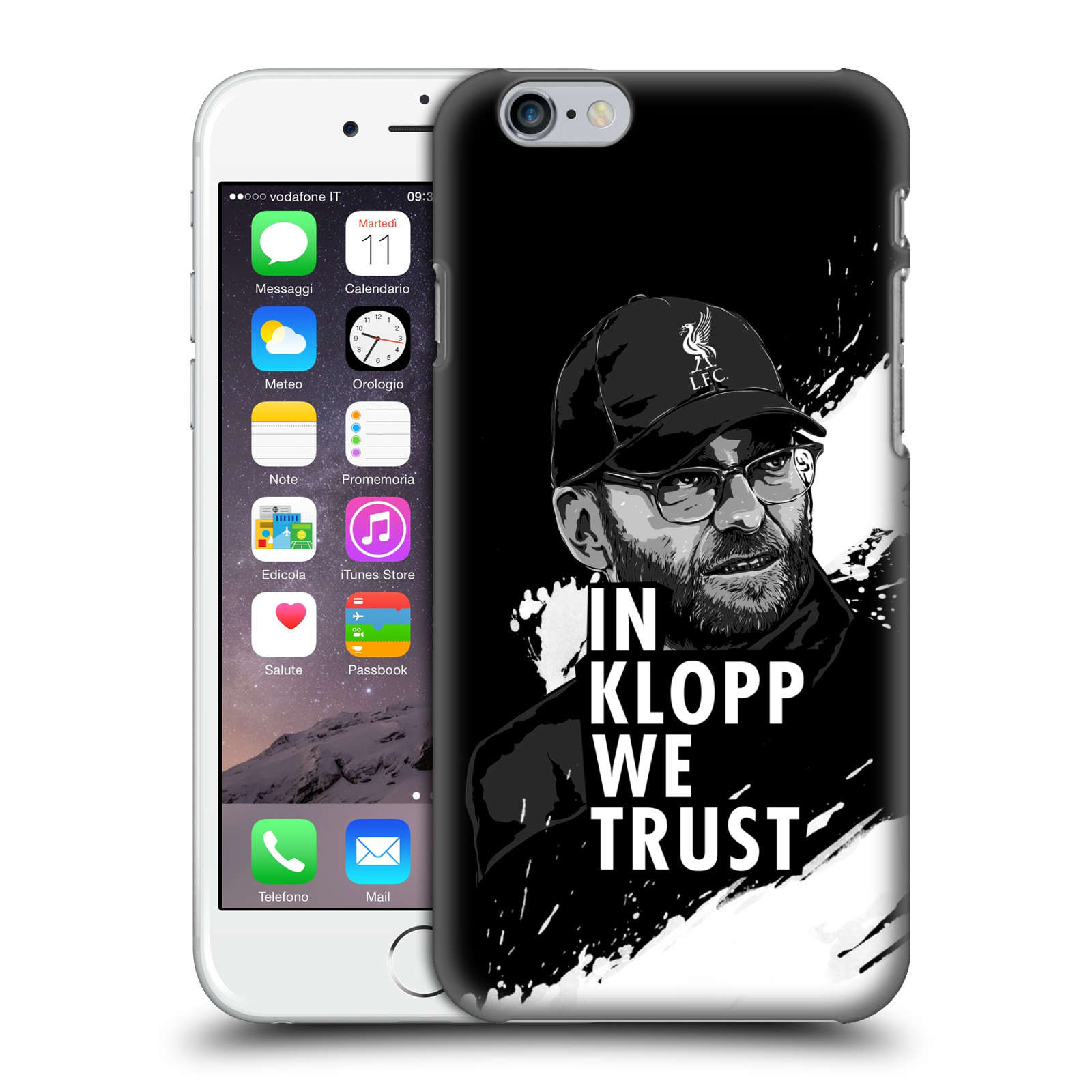 Liverpool FC LFC Jurgen Klopp Illustrations-Stare Black