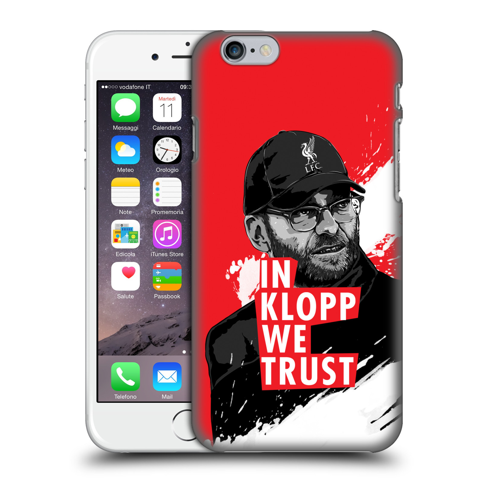 Liverpool FC LFC Jurgen Klopp Illustrations-Stare Red