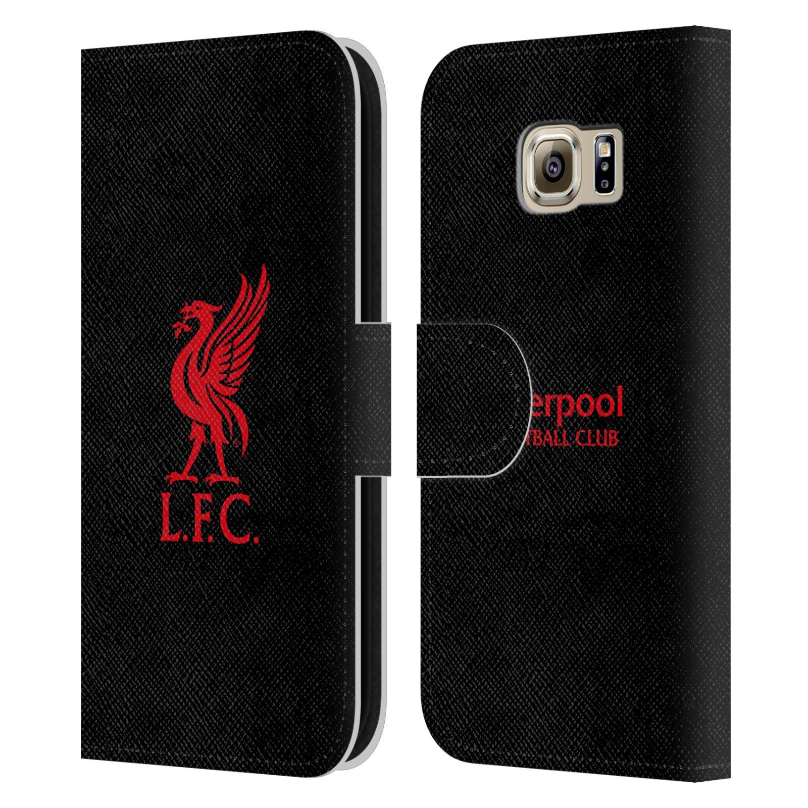 HEAD CASE Flipové pouzdro pro mobil Samsung Galaxy S6 (G9200) LIVERPOOL FC OFICIÁLNÍ ZNAK červená na černé