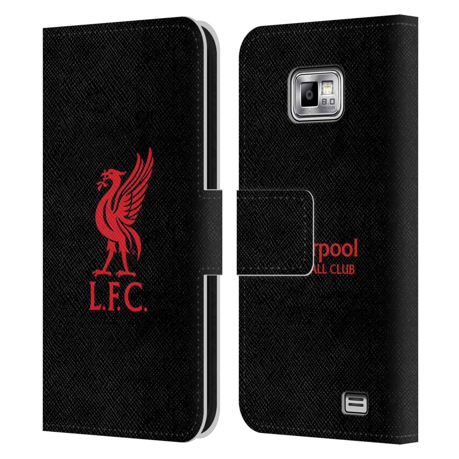HEAD CASE Flipové pouzdro pro mobil Samsung Galaxy S2 i9100 LIVERPOOL FC OFICIÁLNÍ ZNAK červená na černé