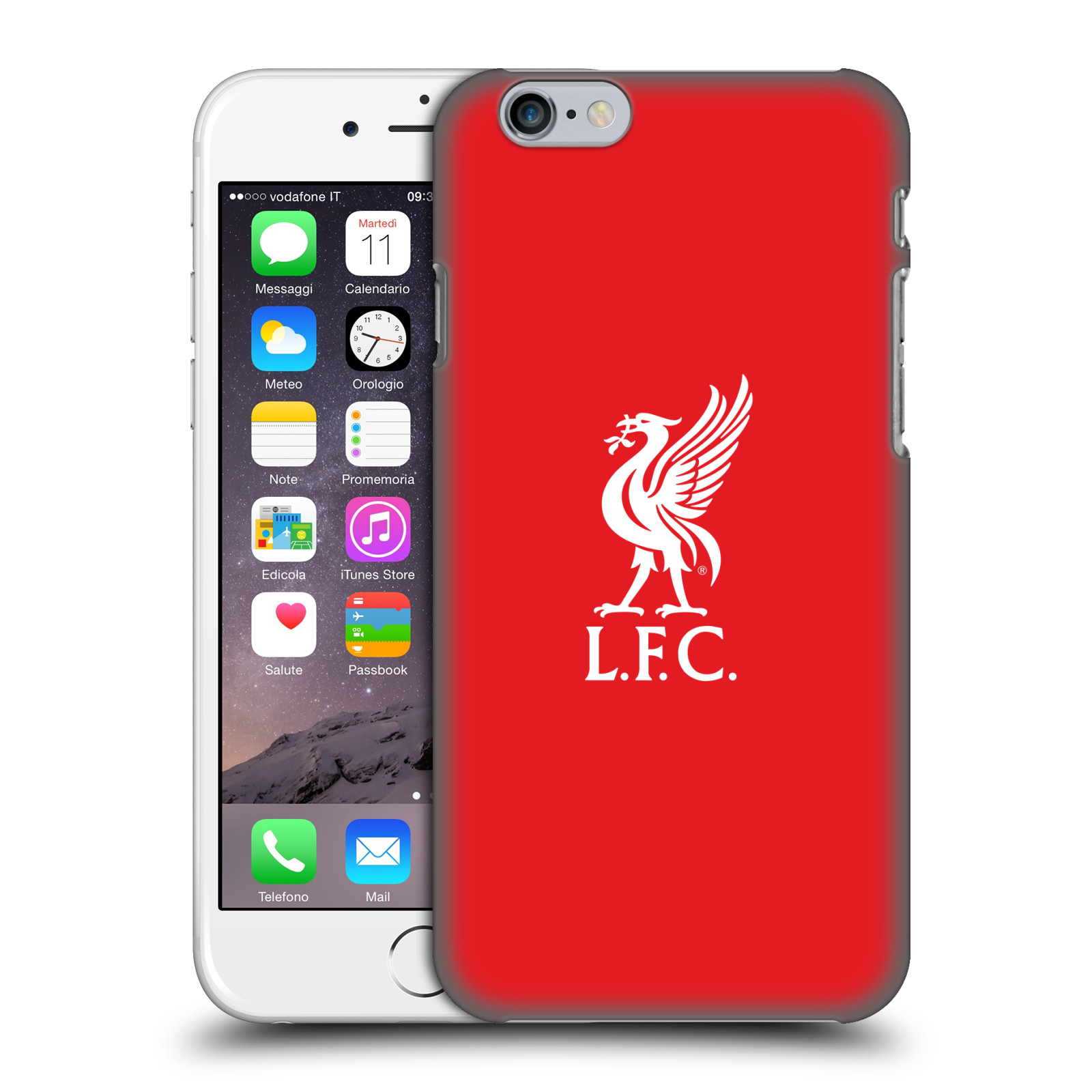 Liverpool FC LFC Liver Bird-White Logo in Red