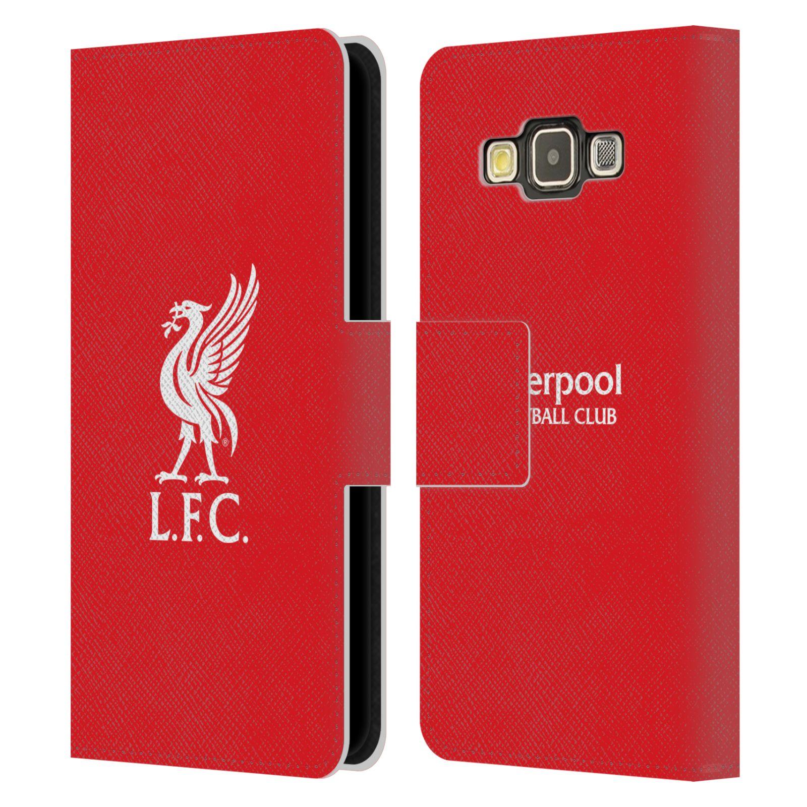 HEAD CASE Flipové pouzdro pro mobil Samsung Galaxy A3 LIVERPOOL FC OFICIÁLNÍ ZNAK bílá na červené