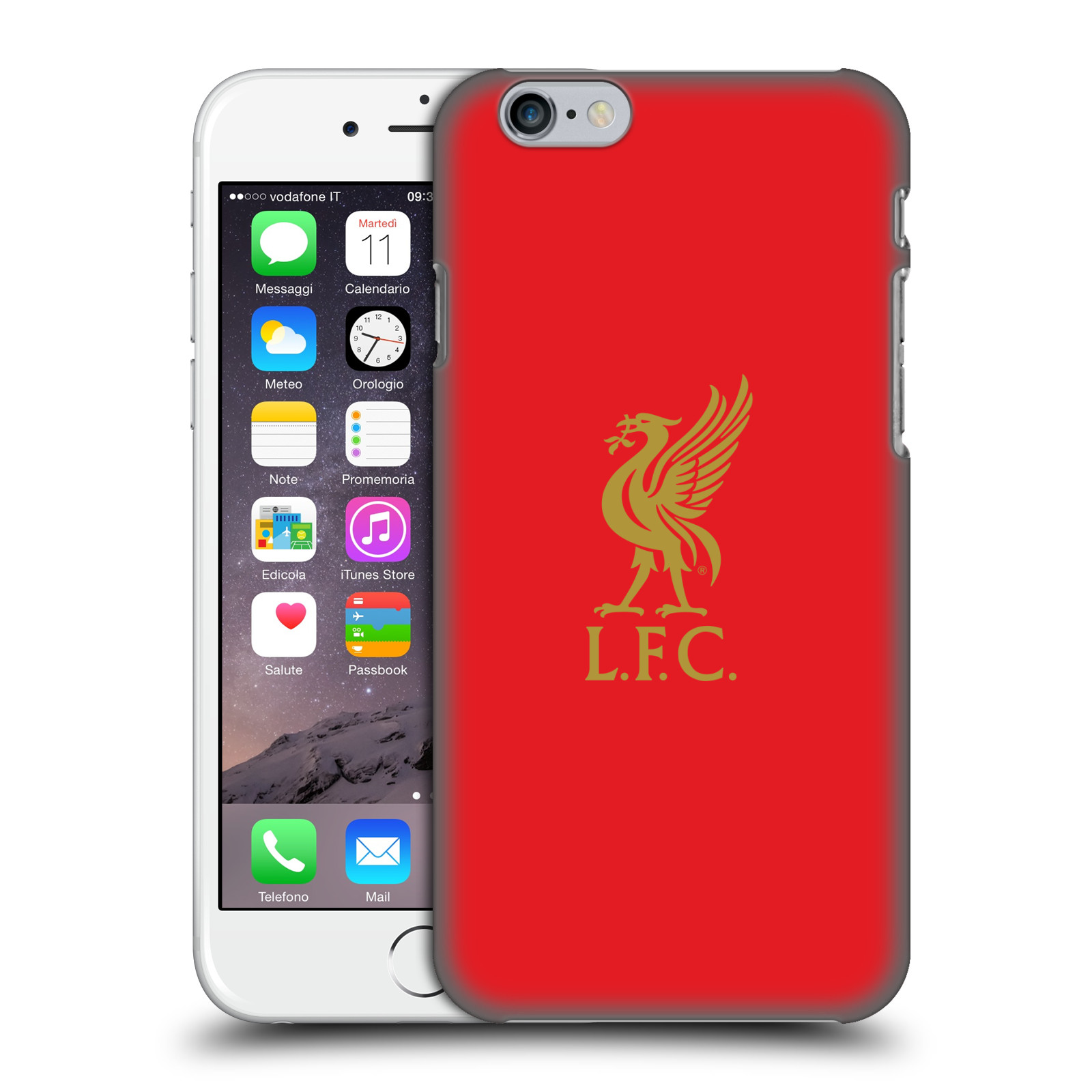 Liverpool FC LFC Liver Bird-Gold Logo on Red