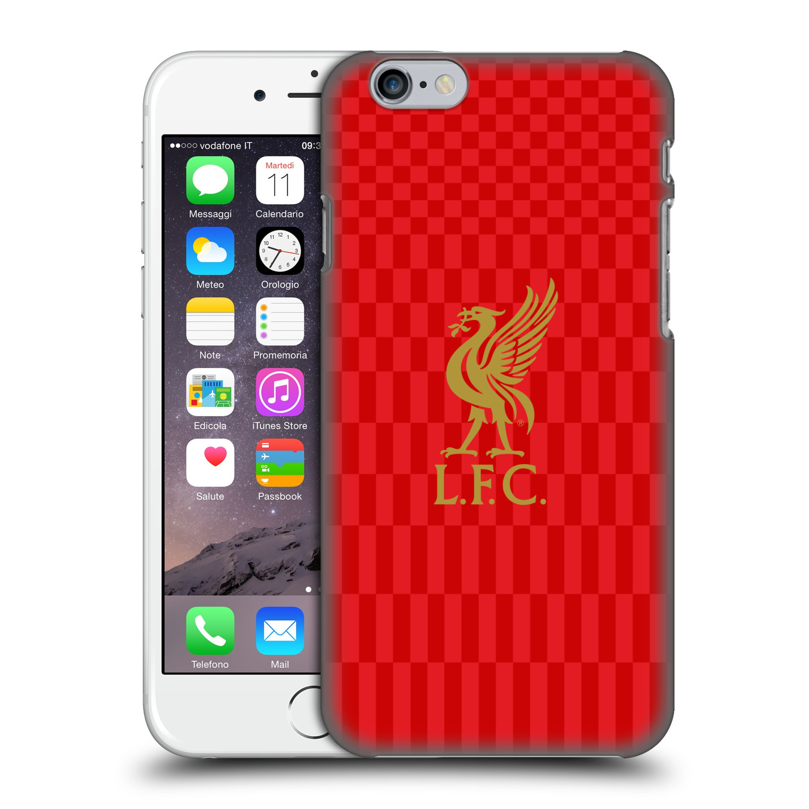 Liverpool FC LFC Liver Bird-Gold on Red Kit