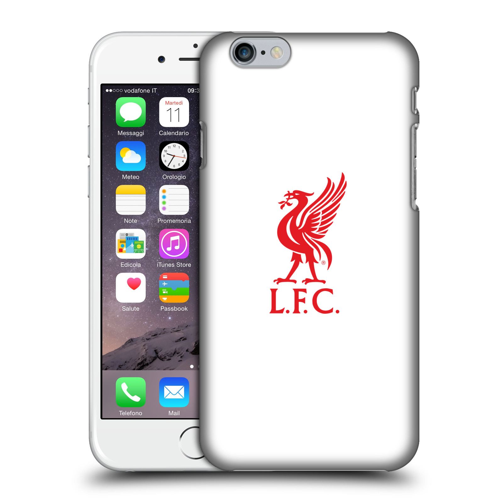 Liverpool FC LFC Liver Bird-Red Logo on White