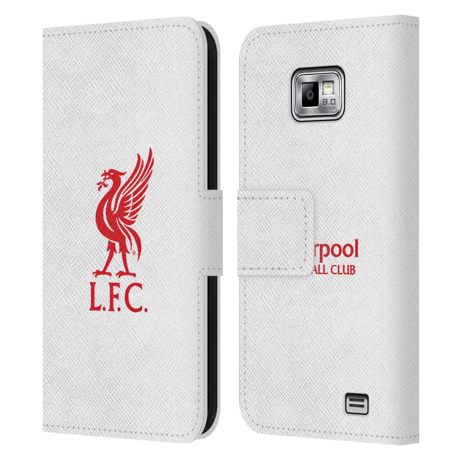 HEAD CASE Flipové pouzdro pro mobil Samsung Galaxy S2 i9100 LIVERPOOL FC OFICIÁLNÍ ZNAK červená na bílé
