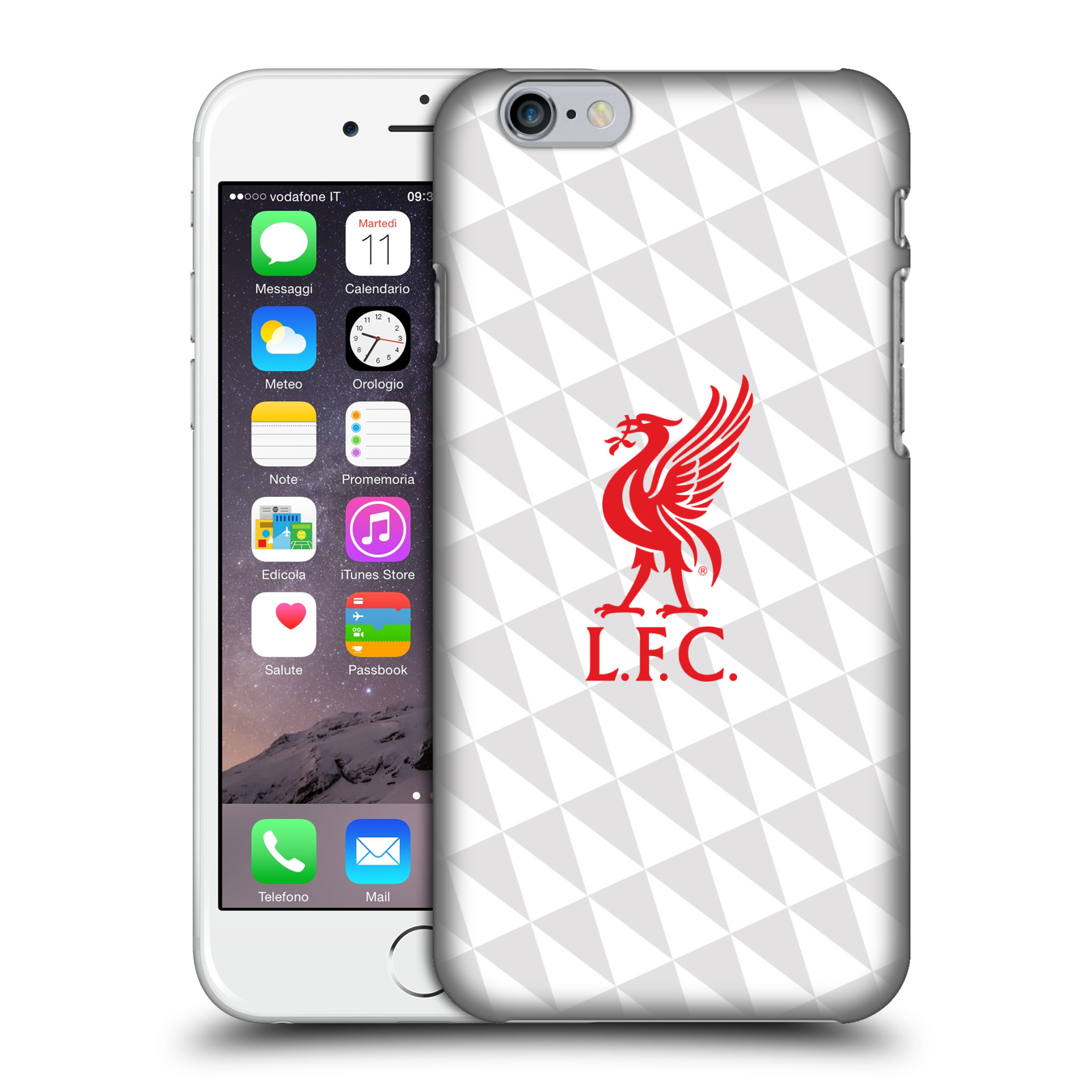 Liverpool FC LFC Liver Bird-Red on White Kit