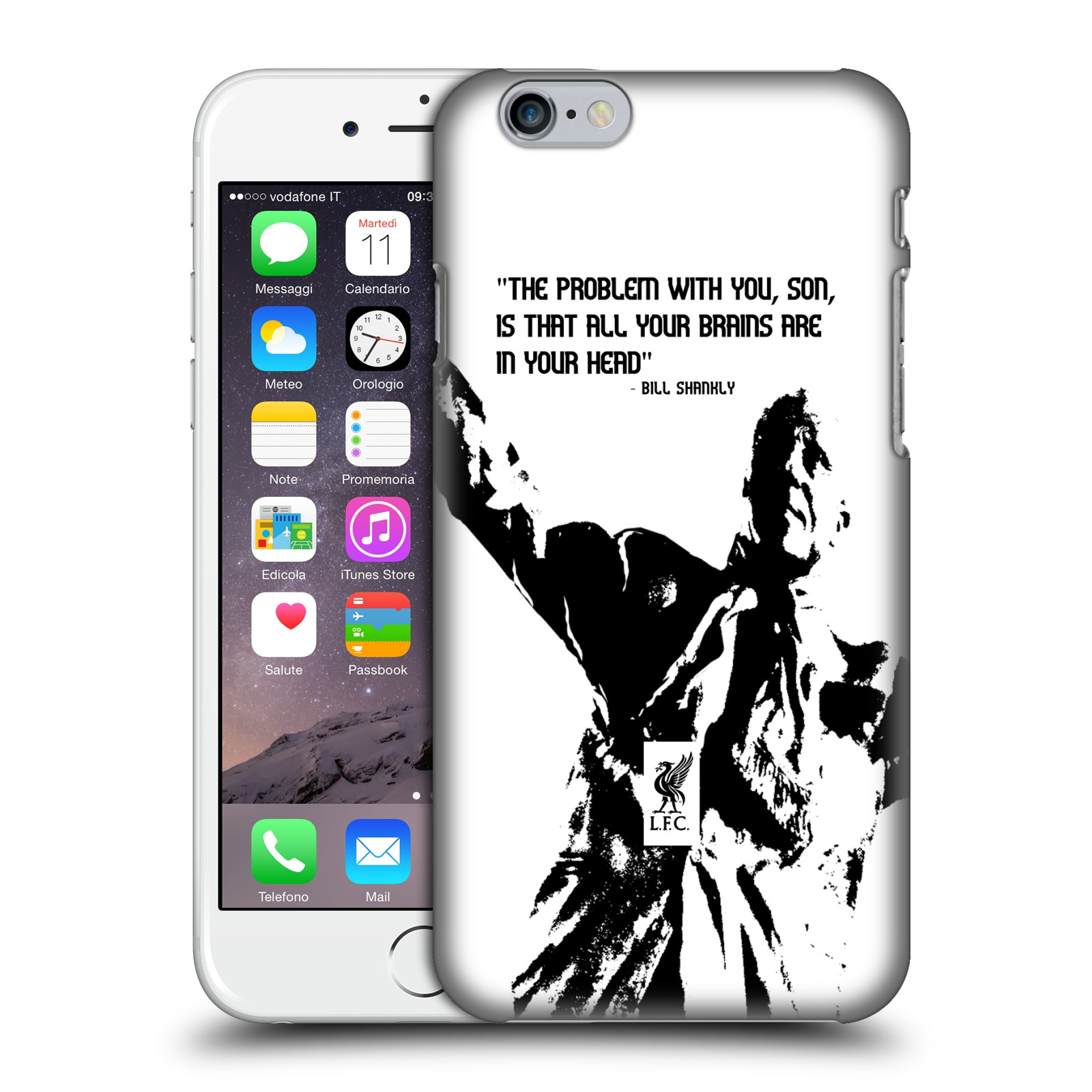 Liverpool FC LFC Bill Shankly Quotes-Problem White